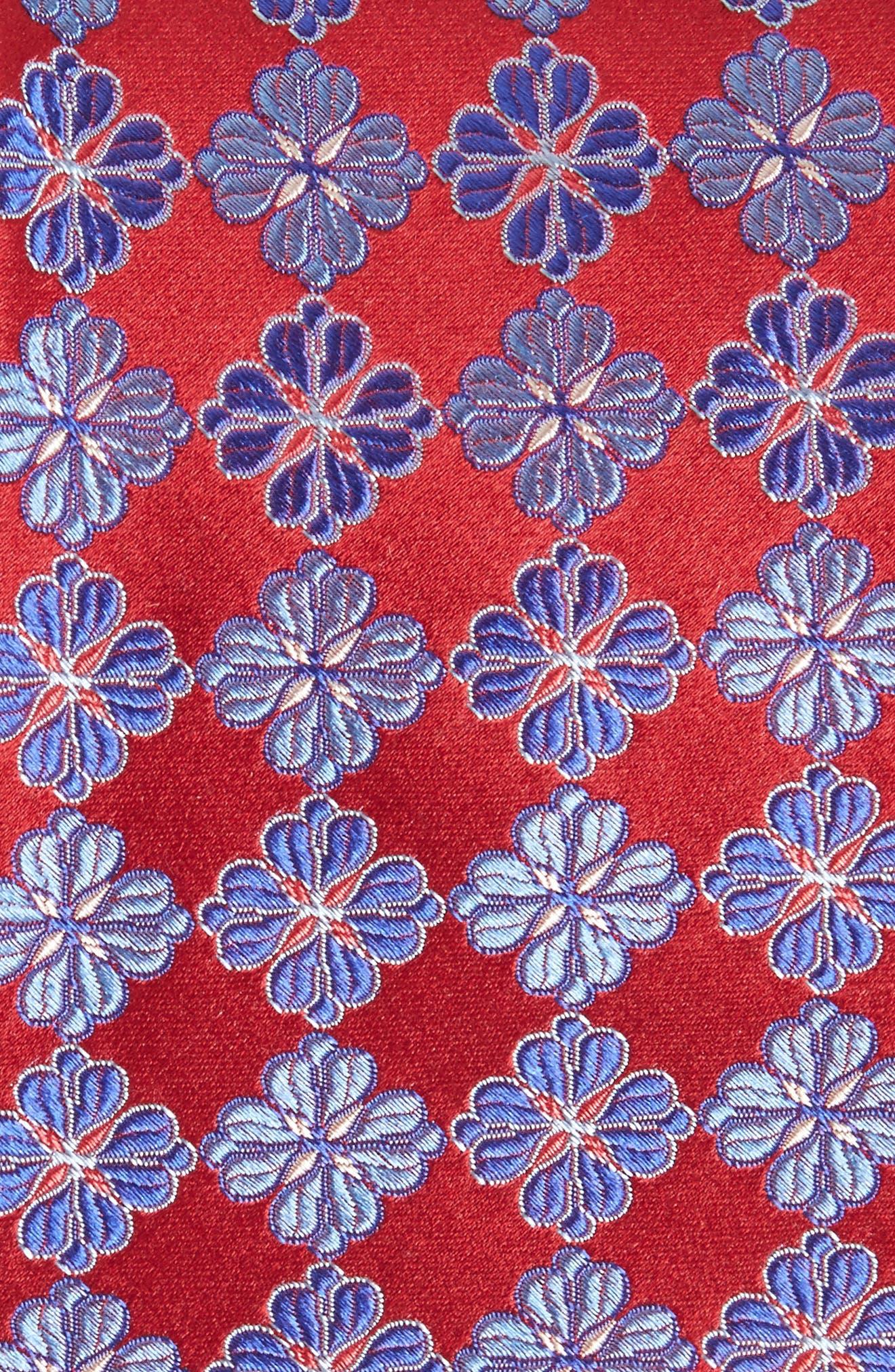 Cole Floral Silk Tie,                             Alternate thumbnail 2, color,                             602