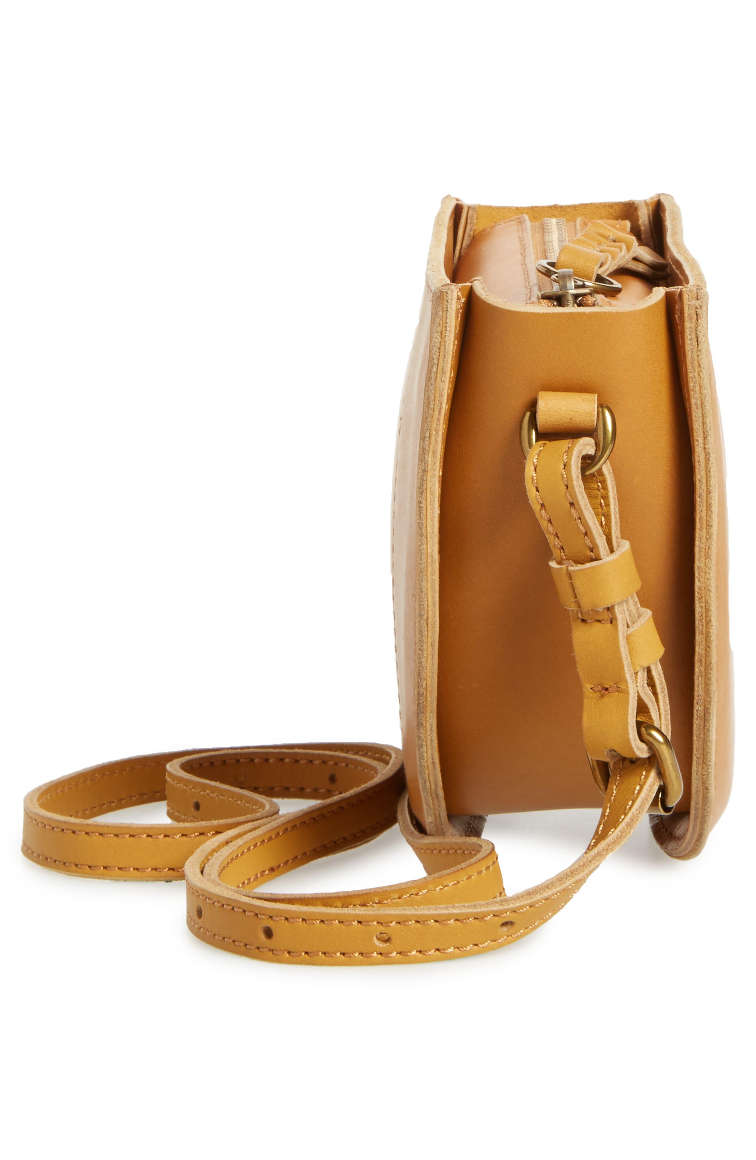 Juniper Vachetta Leather Half Moon Crossbody Bag,                             Alternate thumbnail 14, color,