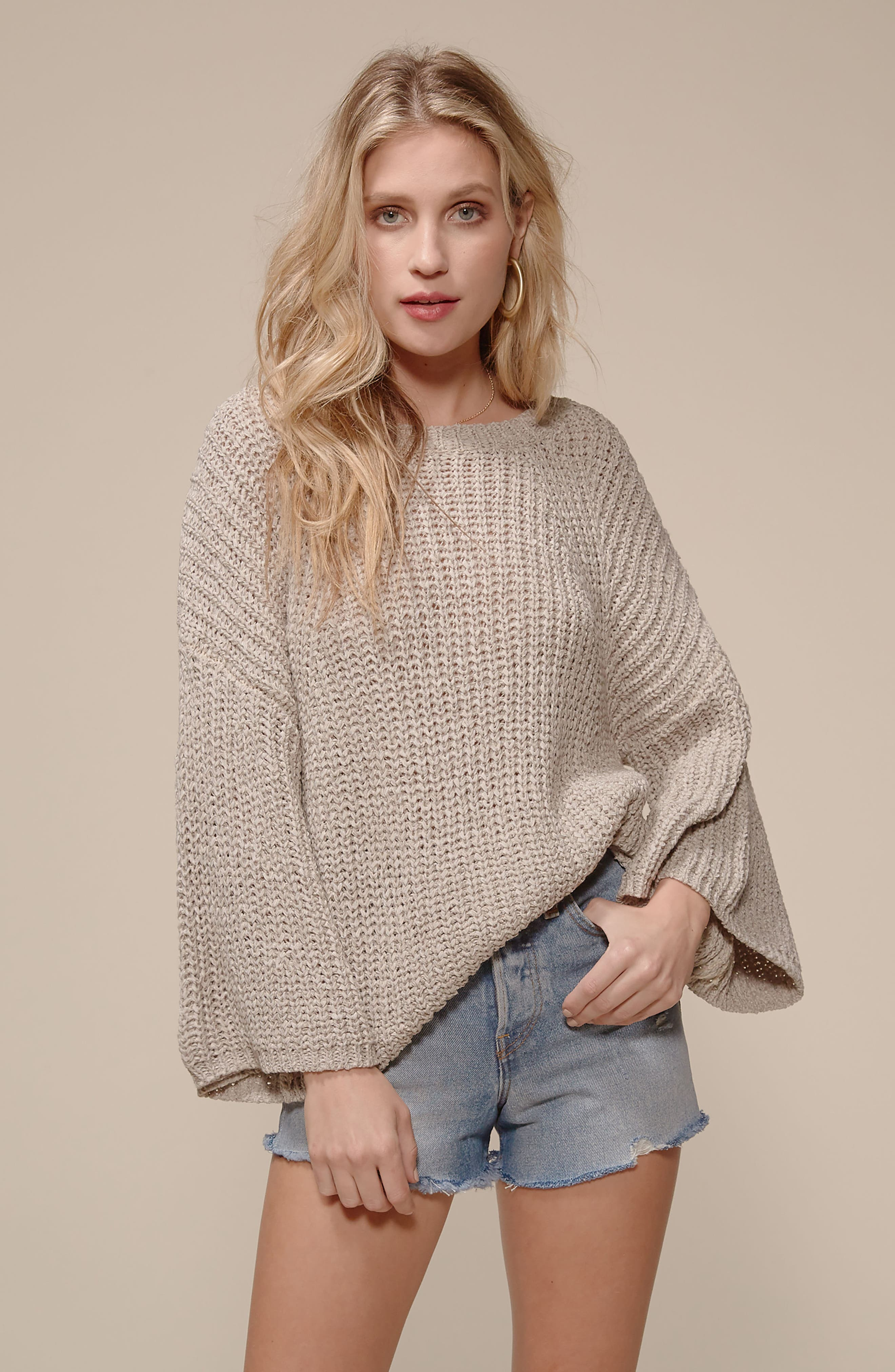 Bell Sleeve Sweater,                             Alternate thumbnail 8, color,                             280