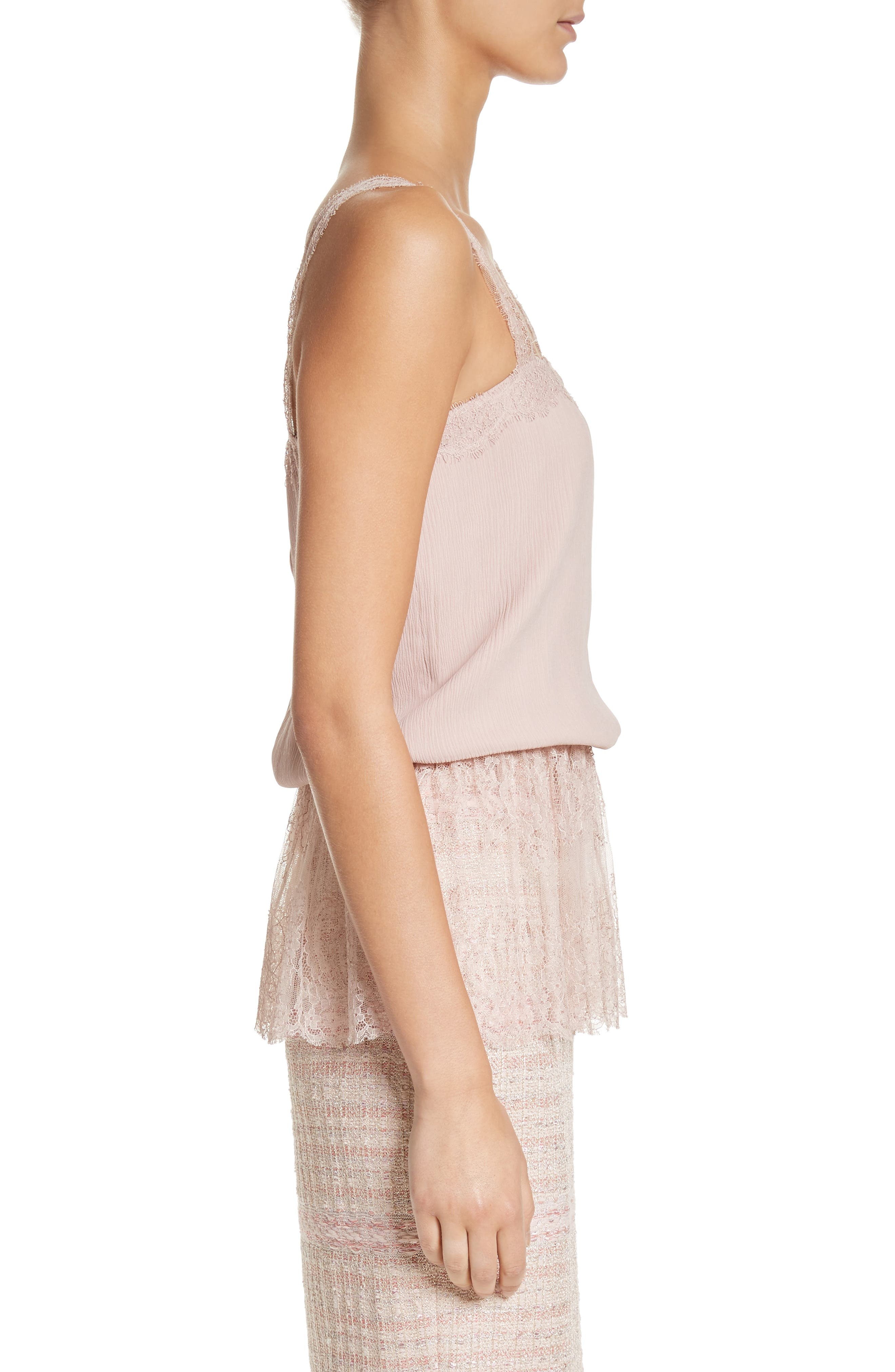 Crinkle Silk Georgette Camisole,                             Alternate thumbnail 3, color,                             680