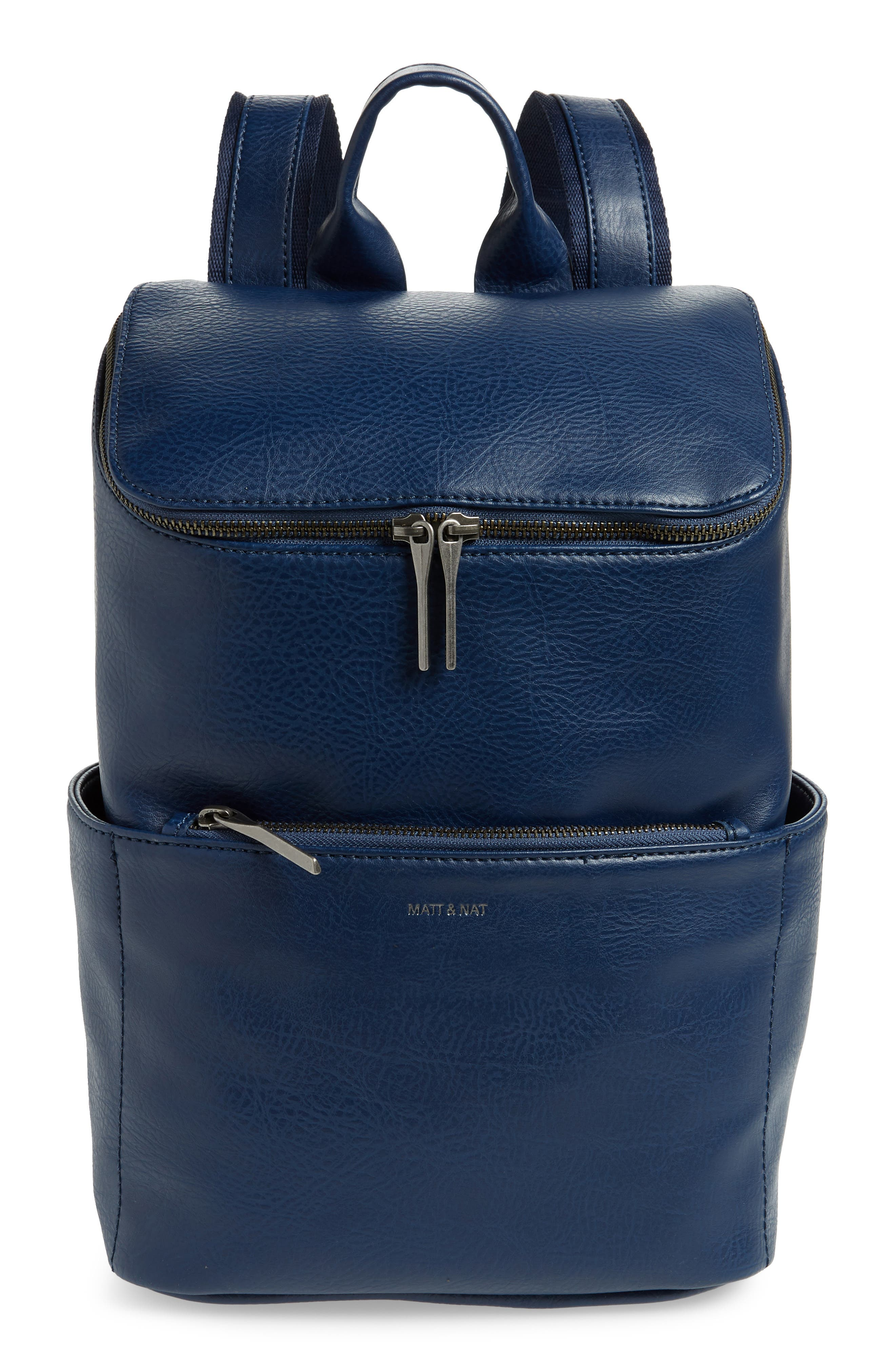 'Brave' Faux Leather Backpack,                             Main thumbnail 1, color,                             ALLURE
