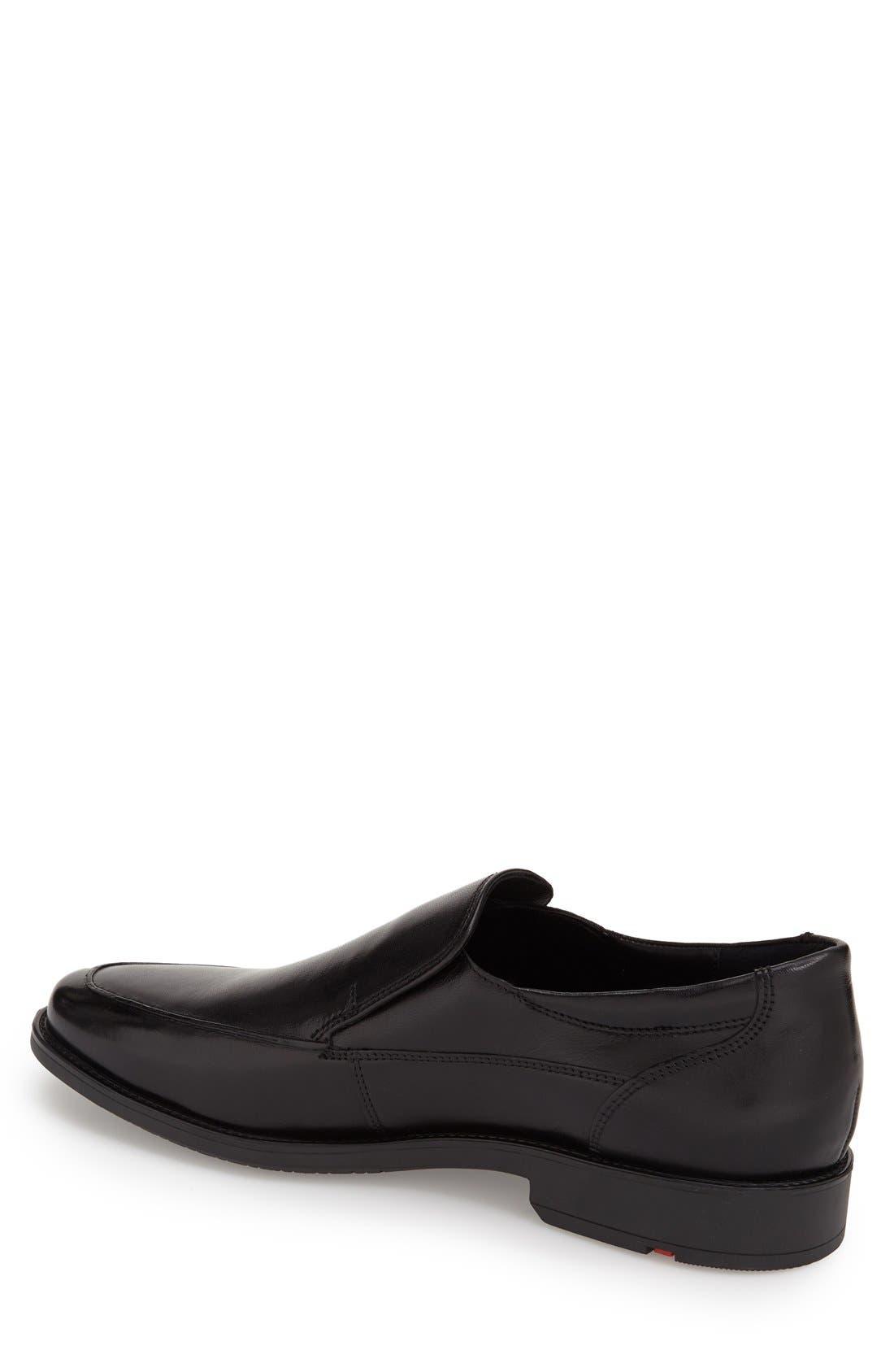 'Nante' Venetian Loafer,                             Alternate thumbnail 2, color,                             BLACK