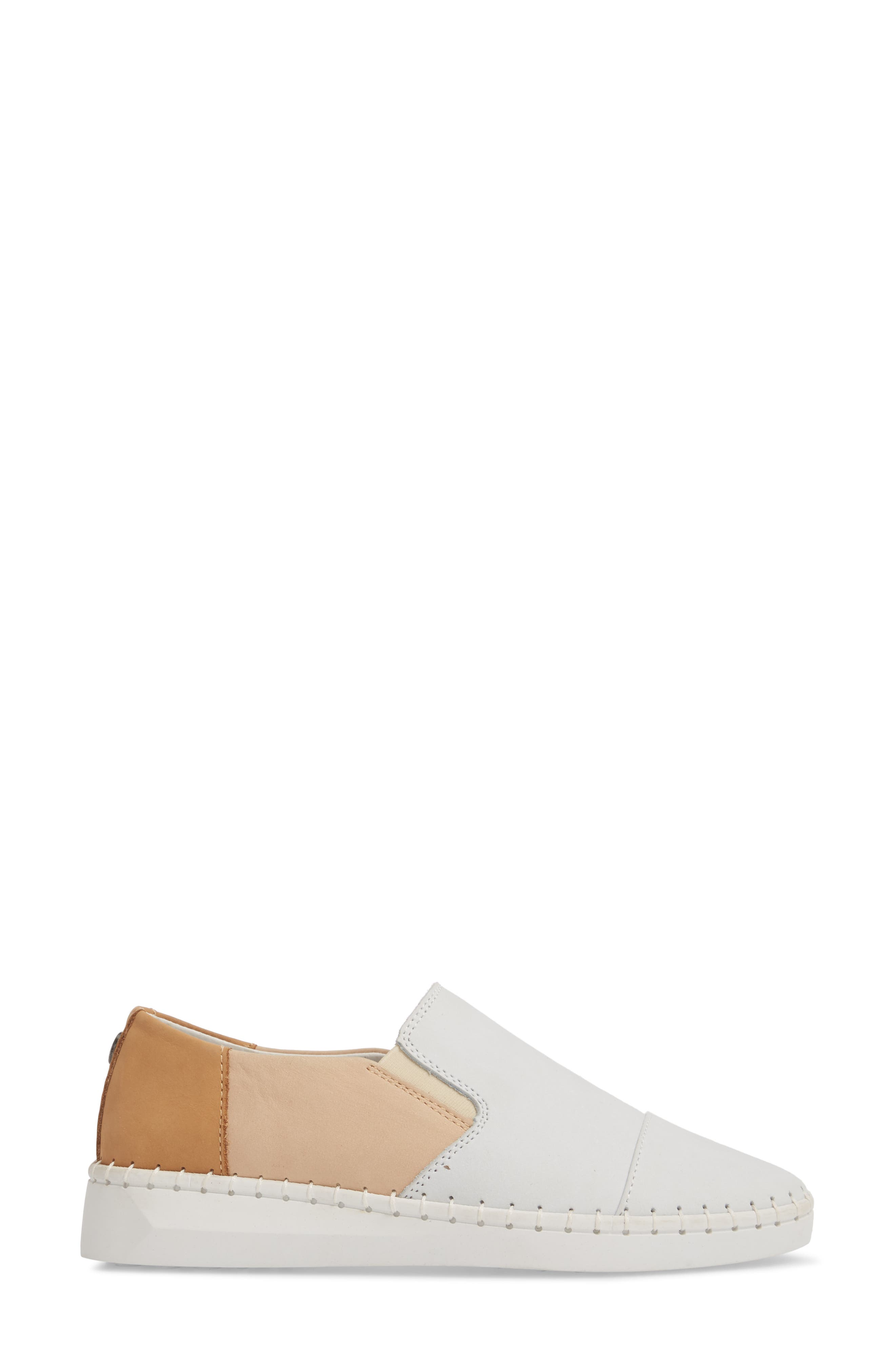 TW107 Slip-On Flat,                             Alternate thumbnail 3, color,                             NUDE MIX LEATHER