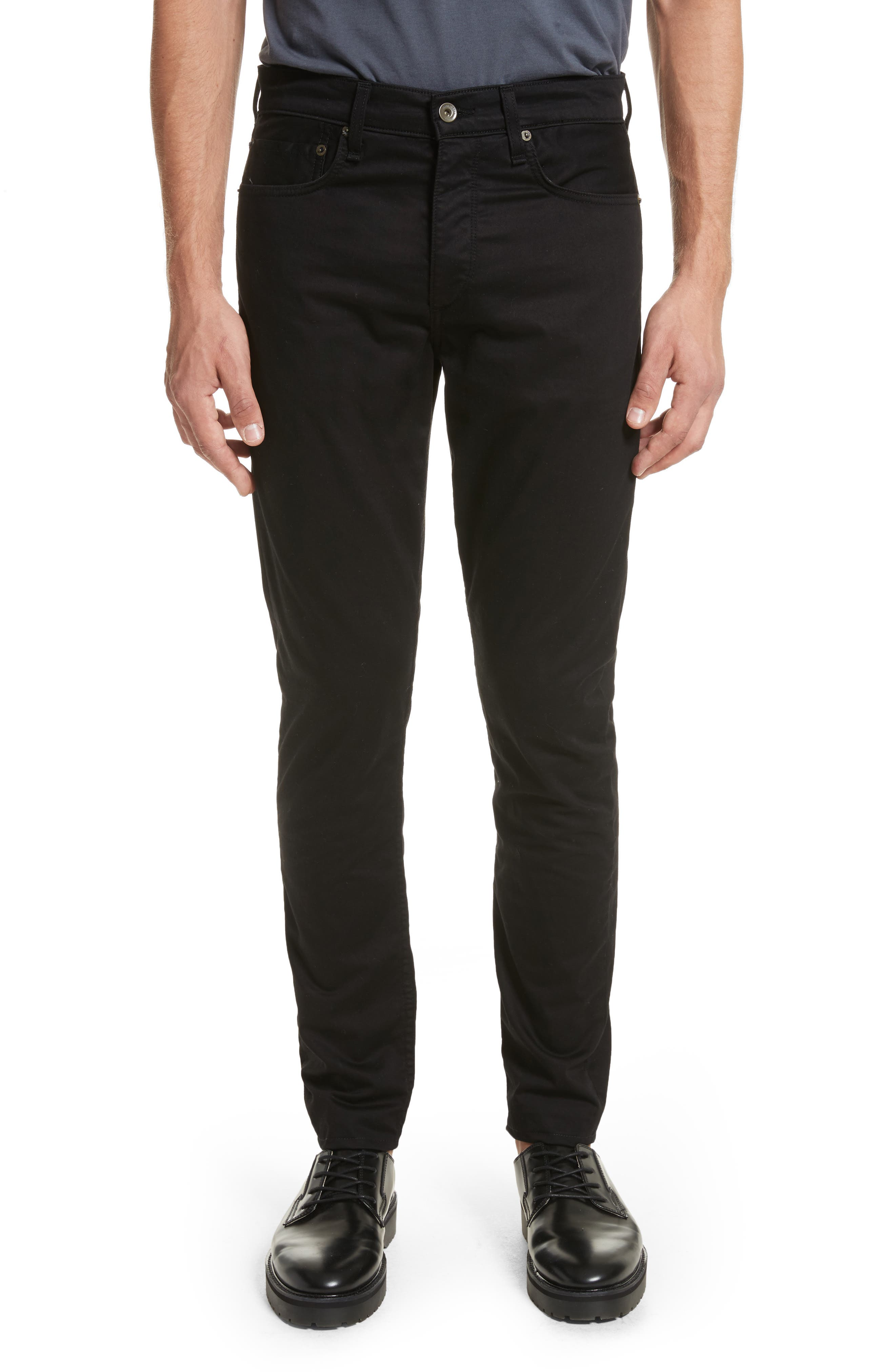 Fit 1 Twill Skinny Fit Pants,                         Main,                         color, 001