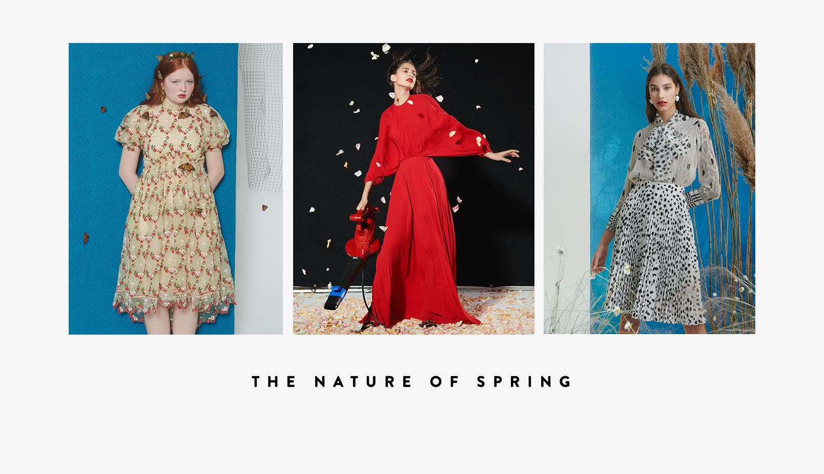 The nature of spring: spring 2019 women's campaign.