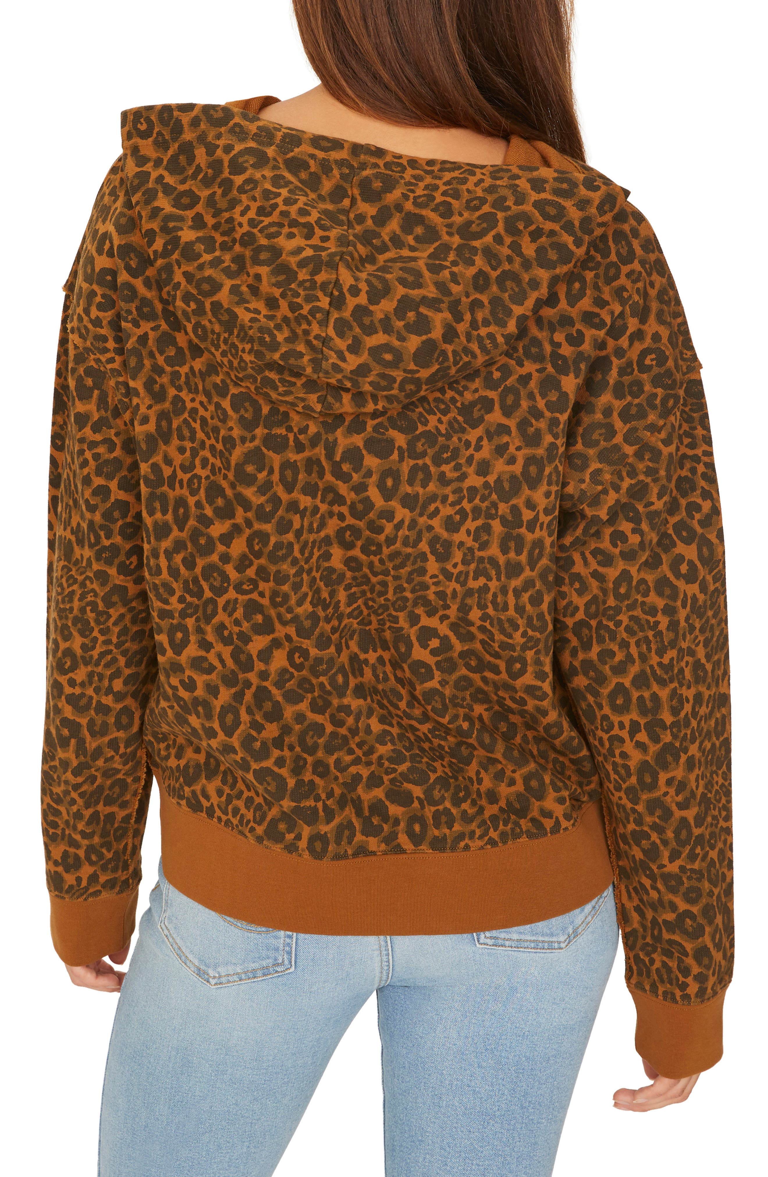 Venice Leopard Print Hoodie,                             Alternate thumbnail 2, color,                             200