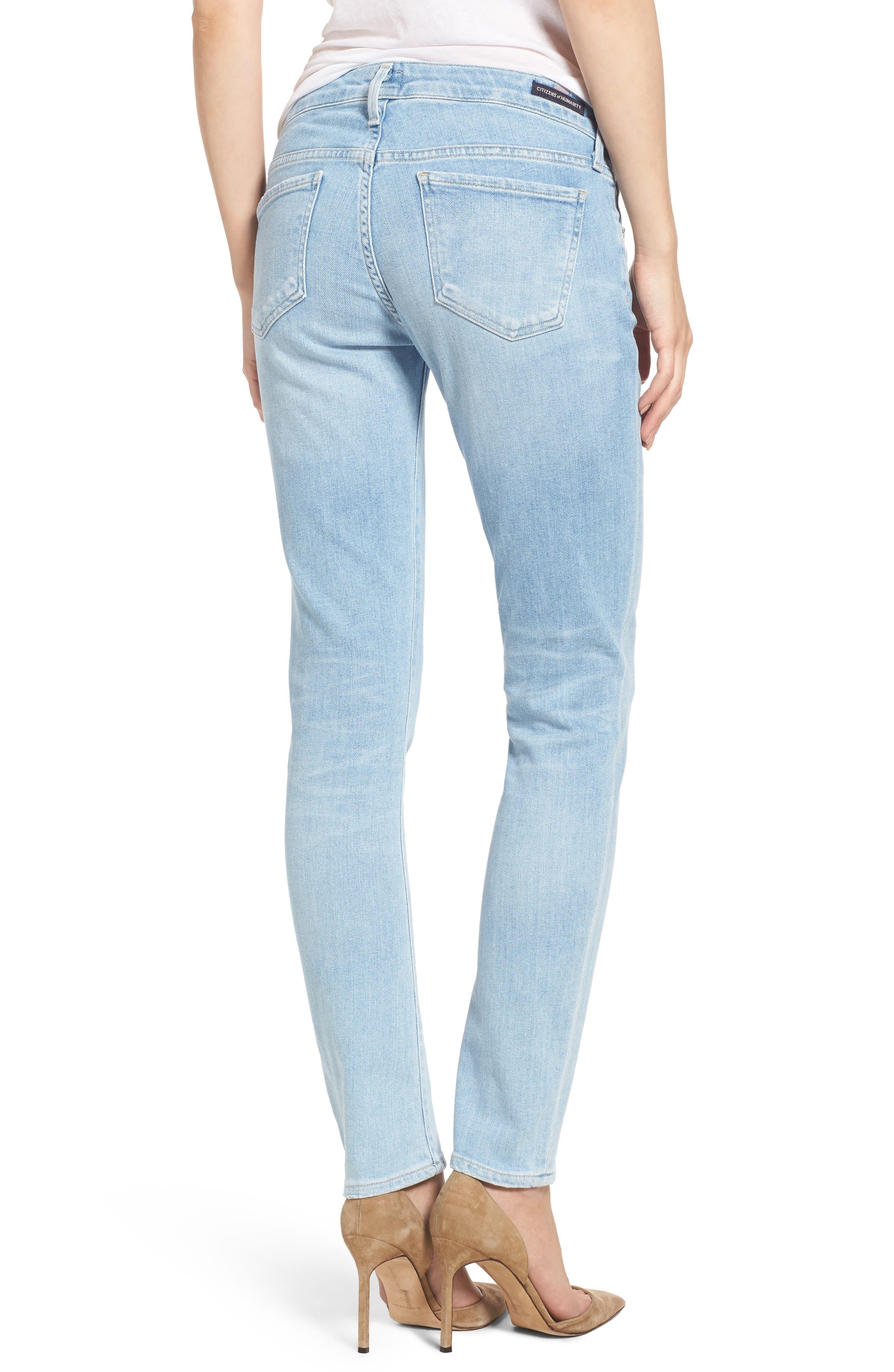 Racer Skinny Jeans,                             Alternate thumbnail 2, color,                             468