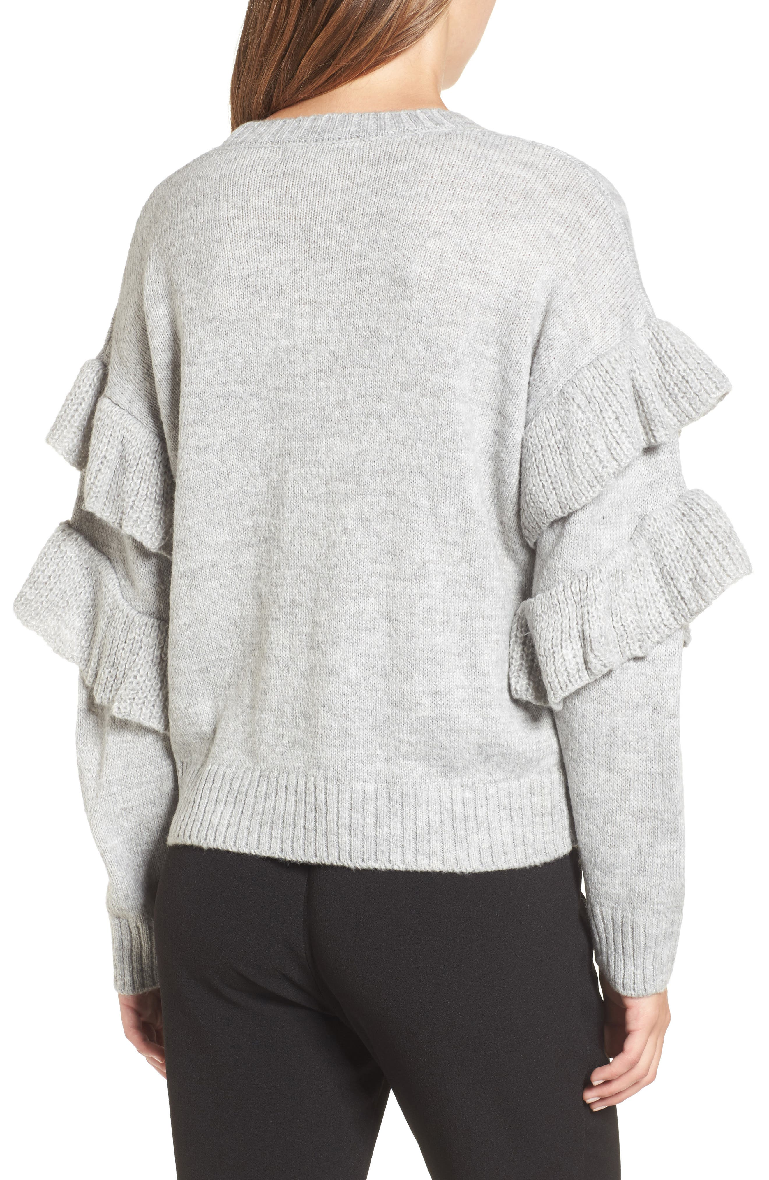 Sophie Ruffle Sleeve Sweater,                             Alternate thumbnail 2, color,