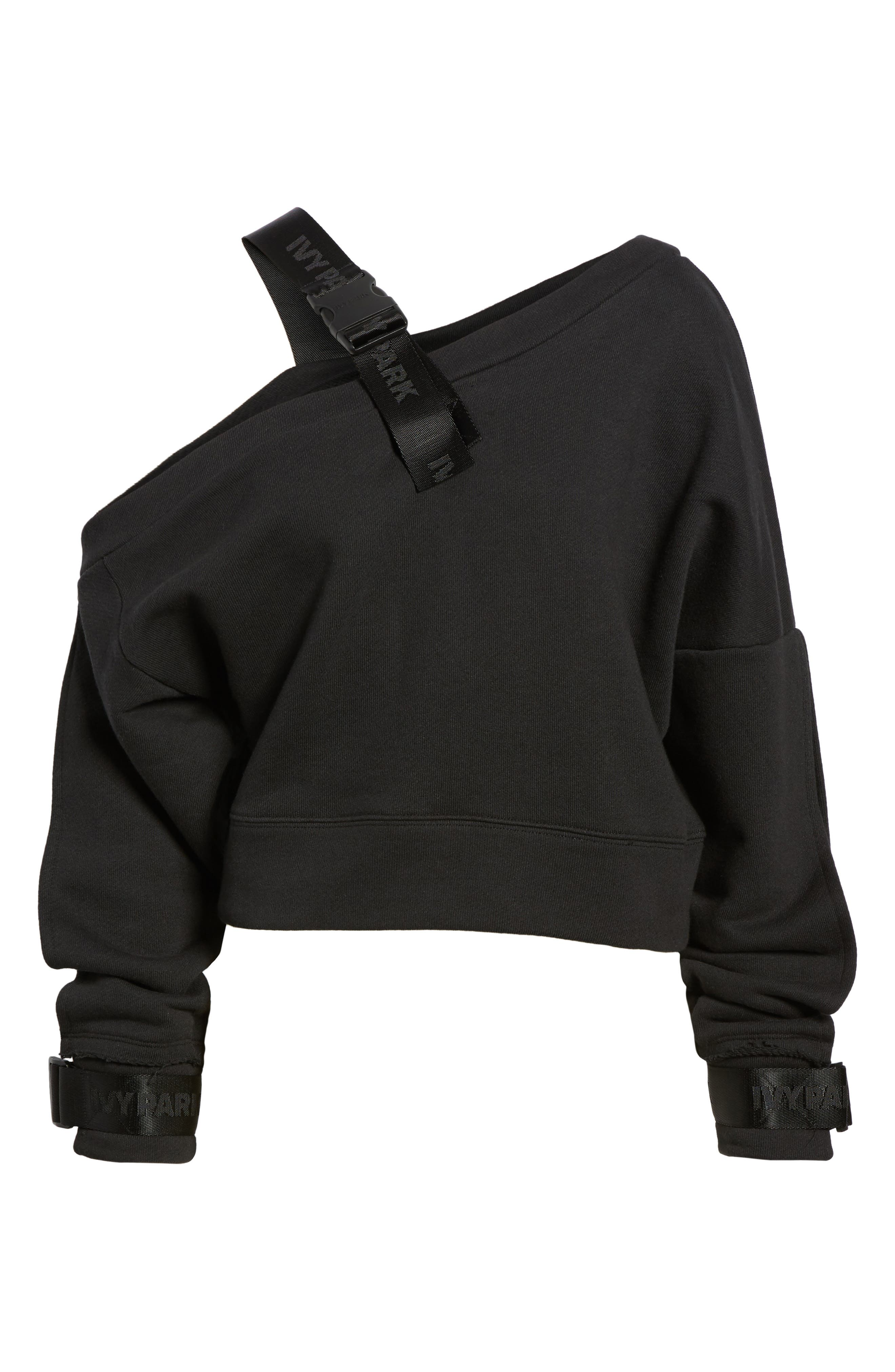 Harness Strap Sweatshirt,                             Alternate thumbnail 7, color,                             001