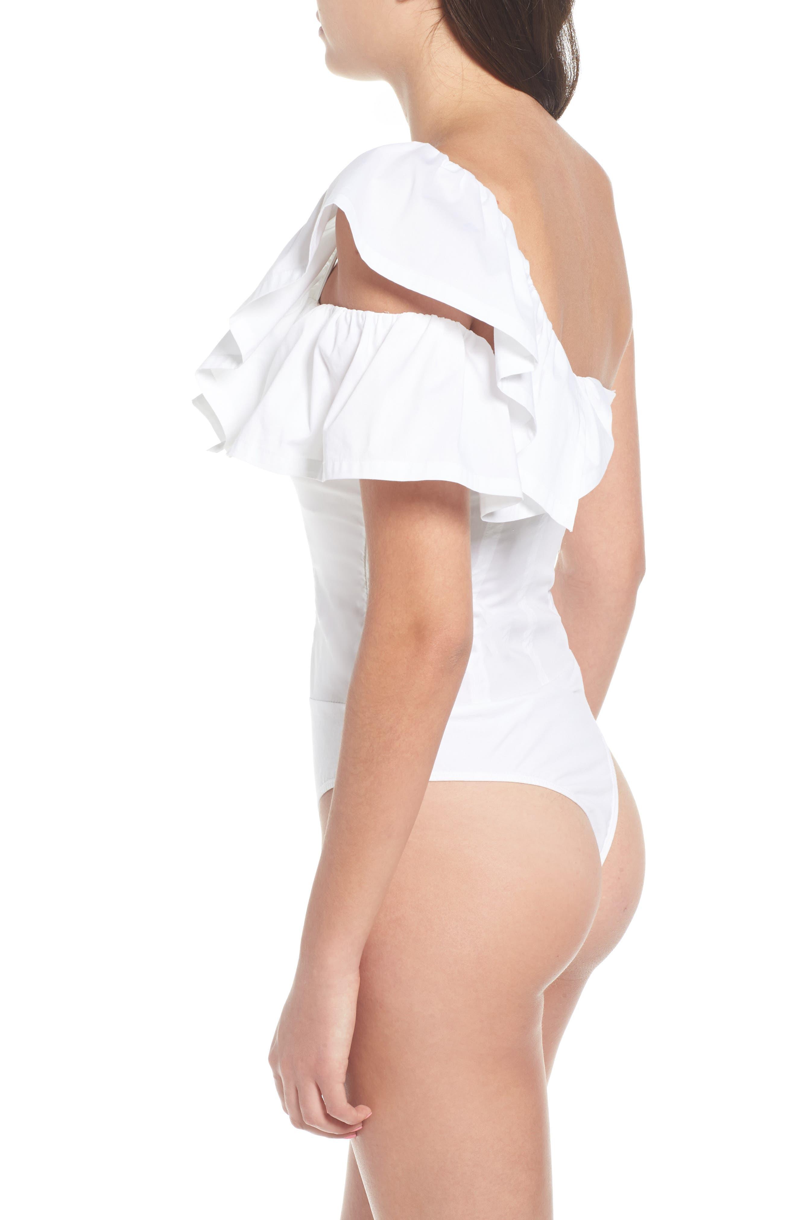 One-Shoulder Bodysuit,                             Alternate thumbnail 6, color,