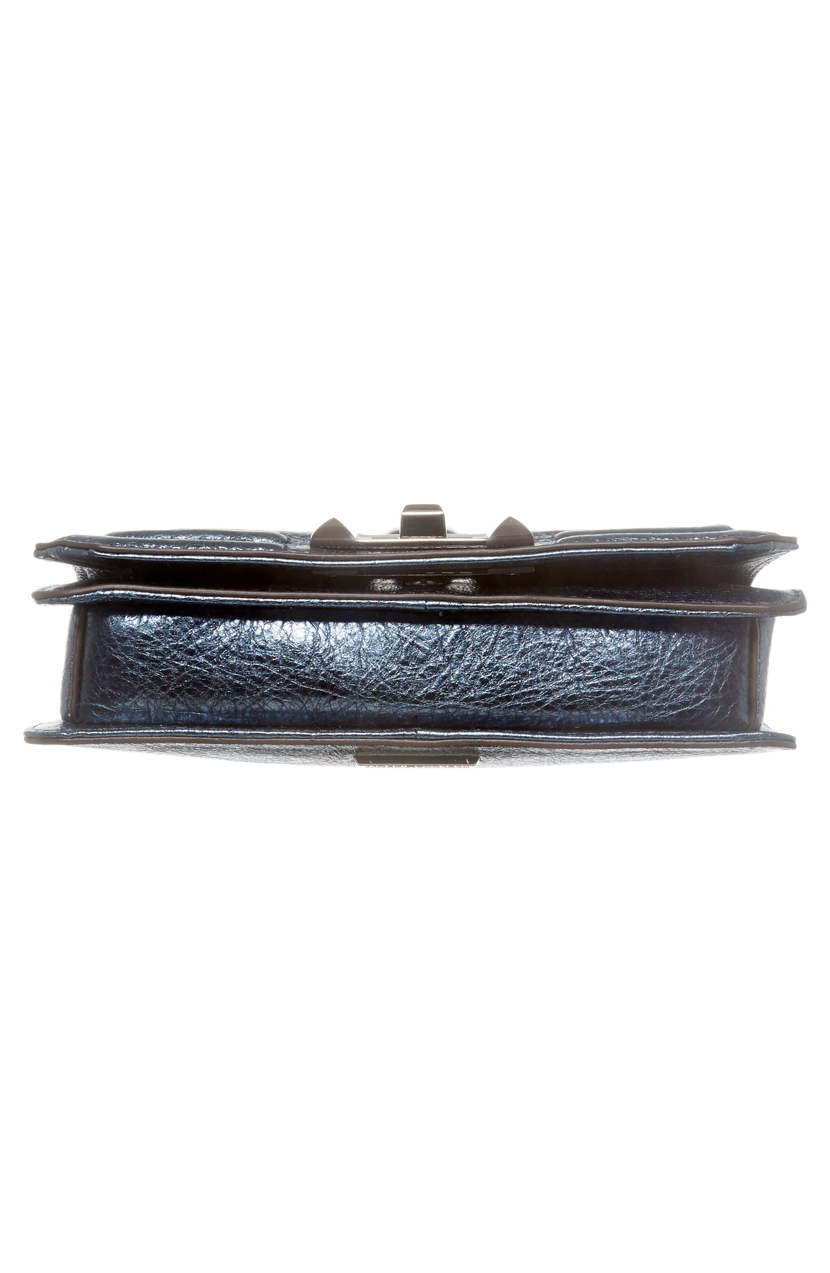 Small Love Metallic Leather Crossbody Bag,                             Alternate thumbnail 17, color,