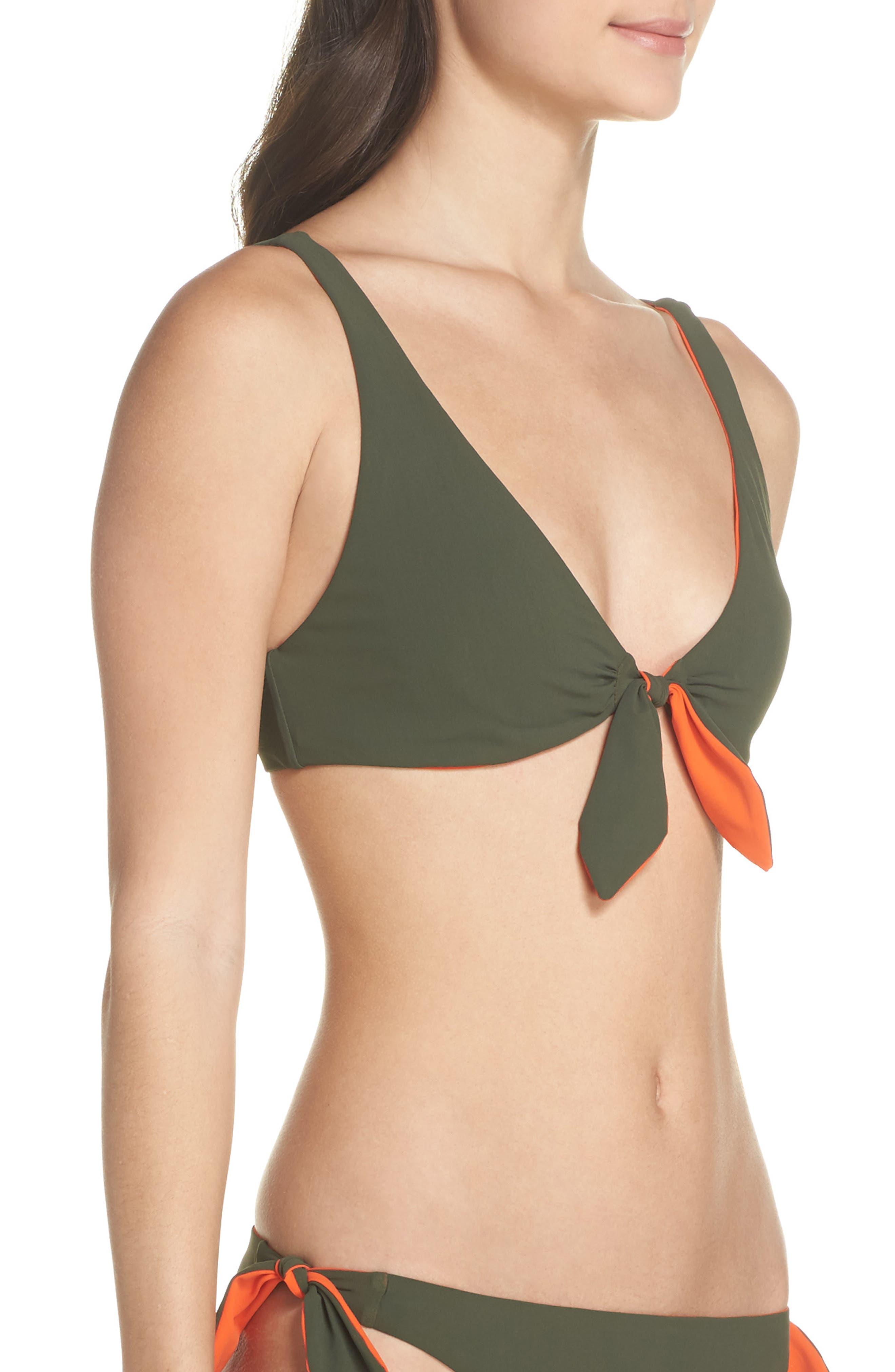 Biarritz Reversible Bikini Top,                             Alternate thumbnail 4, color,                             803