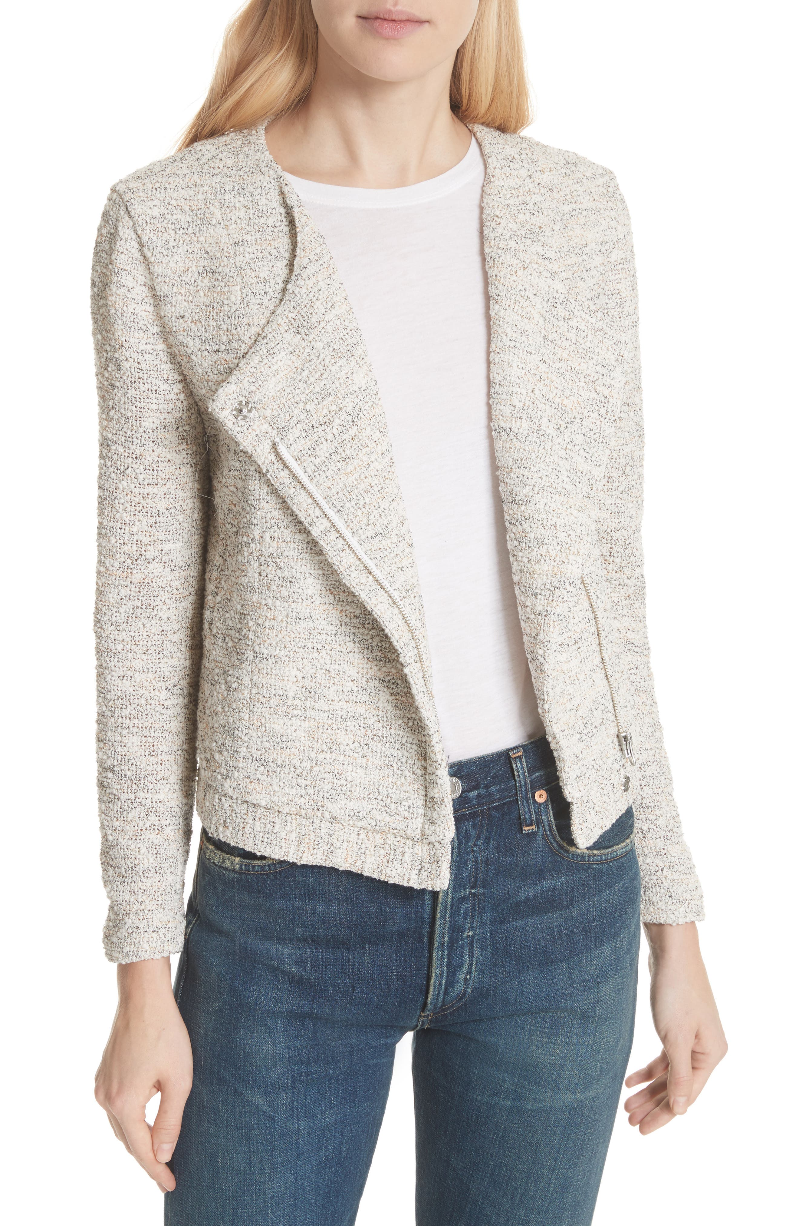 'Balina' Tweed Jacket,                         Main,                         color, 114