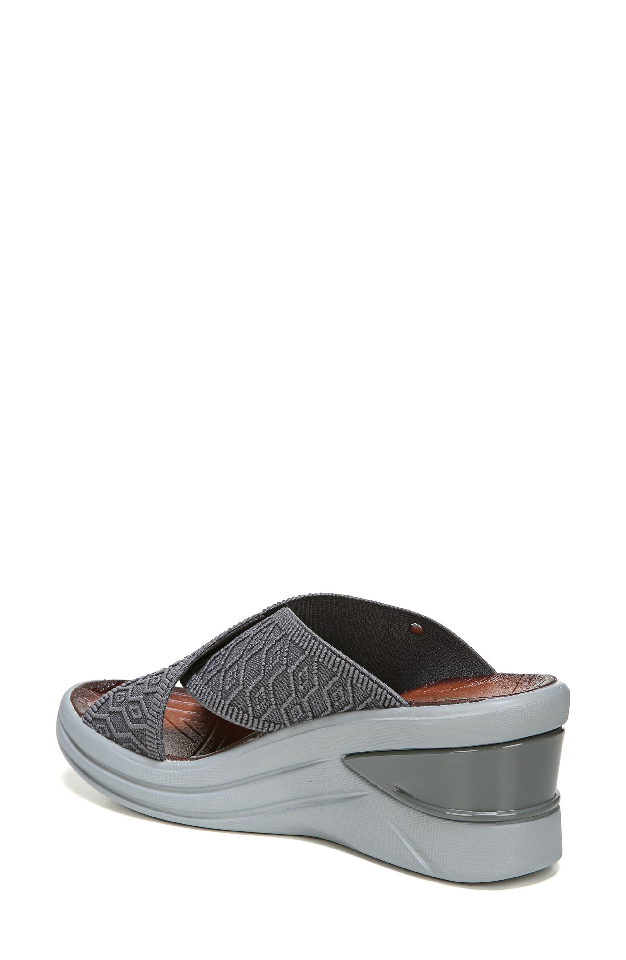 Vista Slide Sandal,                             Alternate thumbnail 2, color,                             PEWTER FABRIC