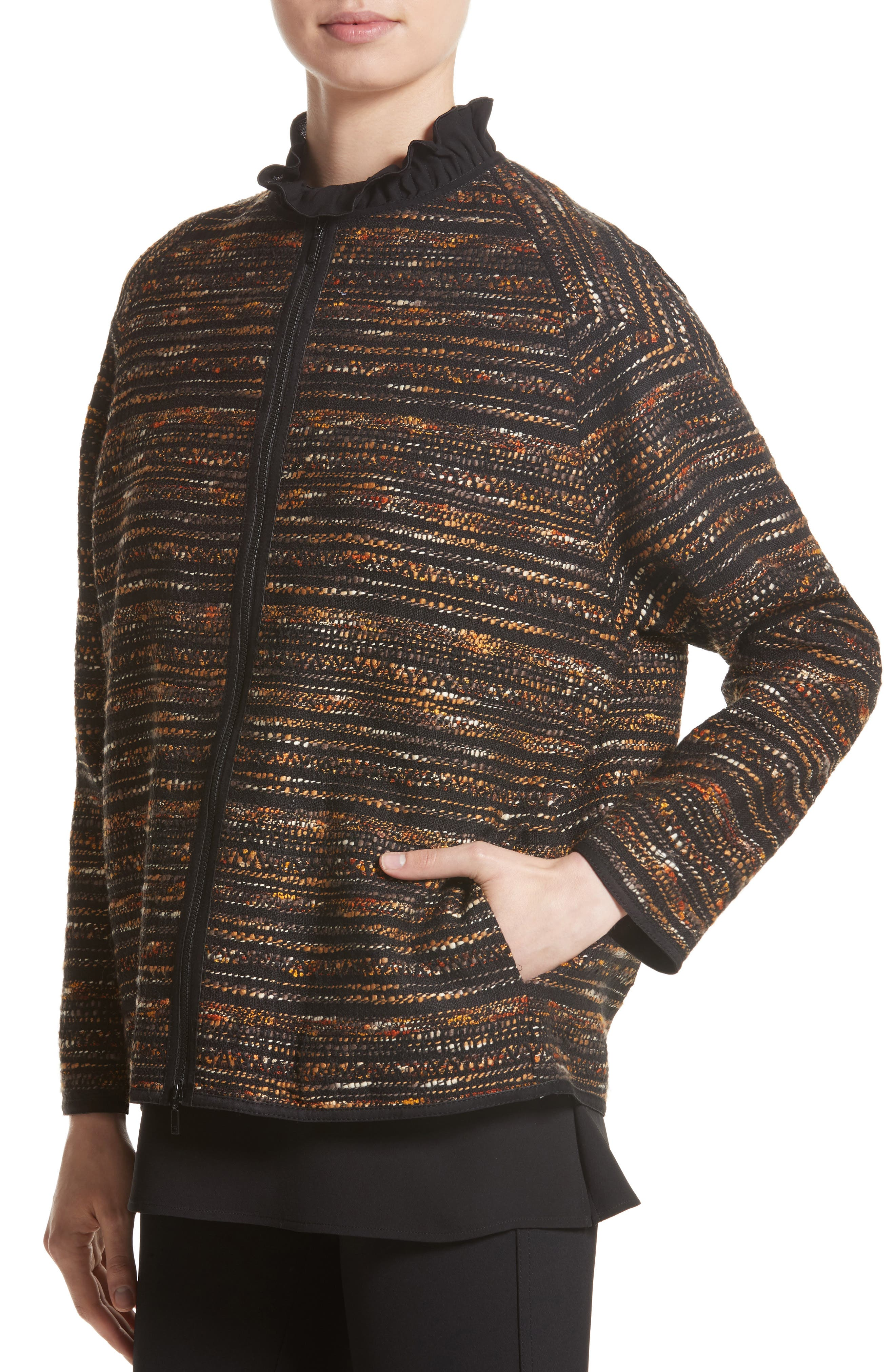Alexa Tweed Jacket,                             Alternate thumbnail 4, color,