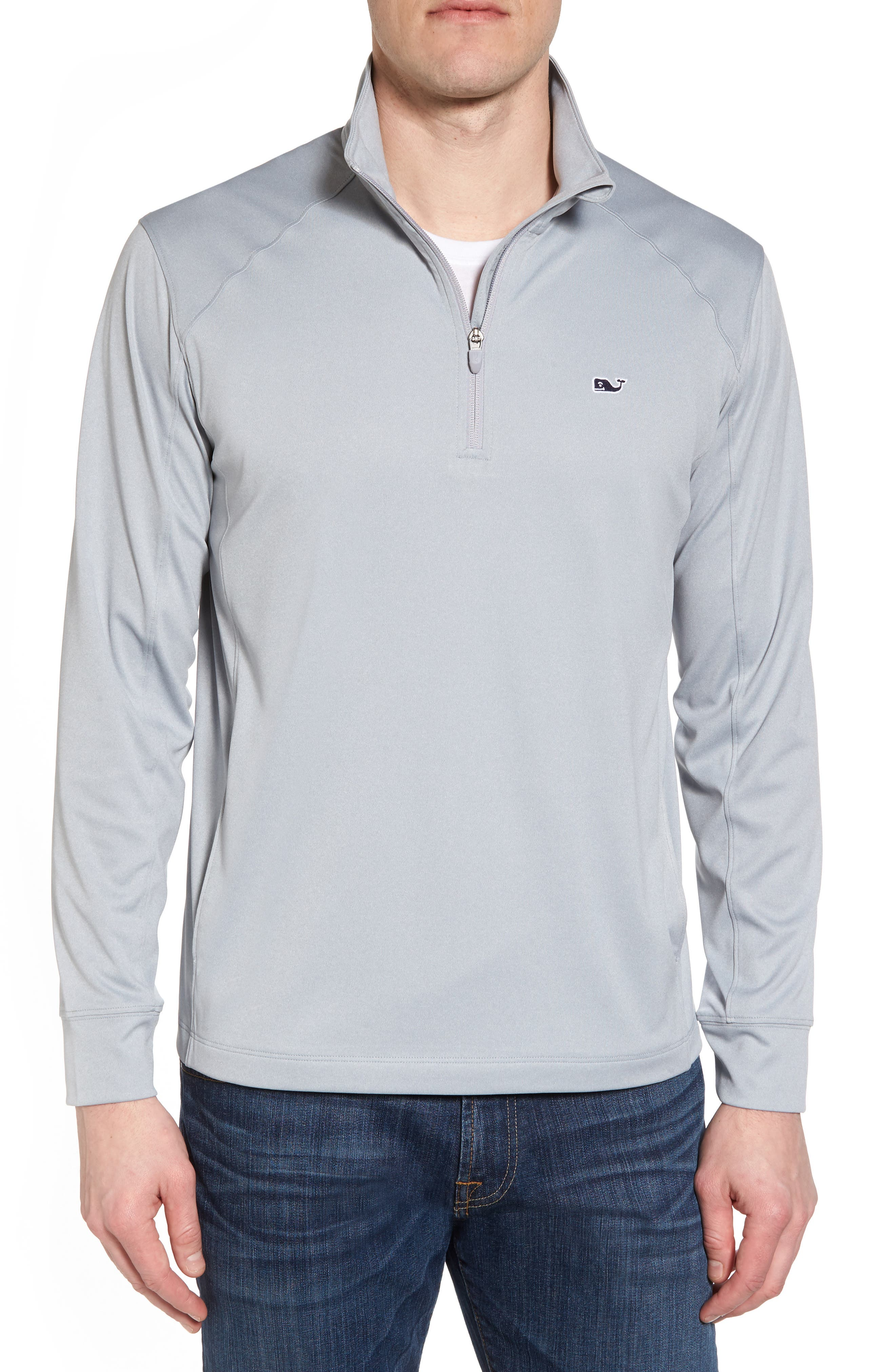 Heathered Quarter Zip Pullover,                             Main thumbnail 1, color,                             034