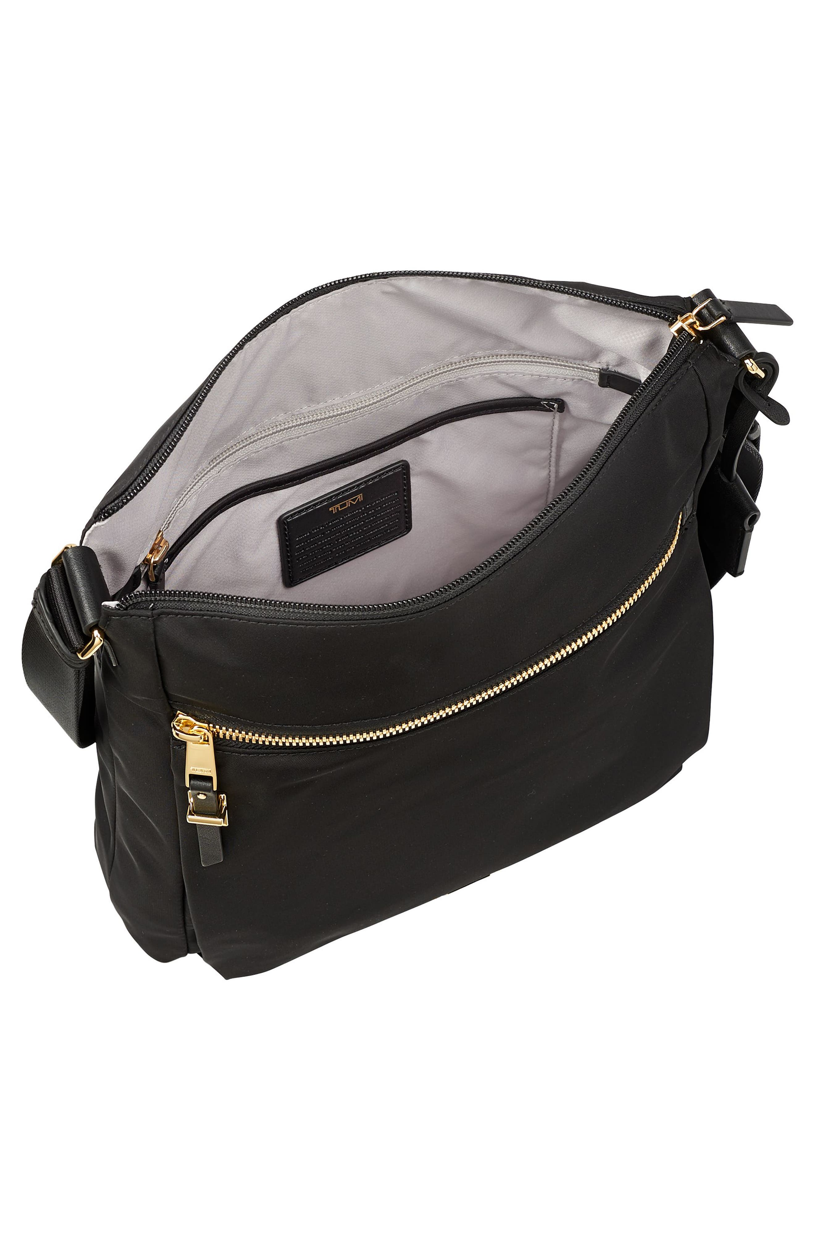 Voyageur - Canton Nylon Crossbody Bag,                             Alternate thumbnail 4, color,                             BLACK