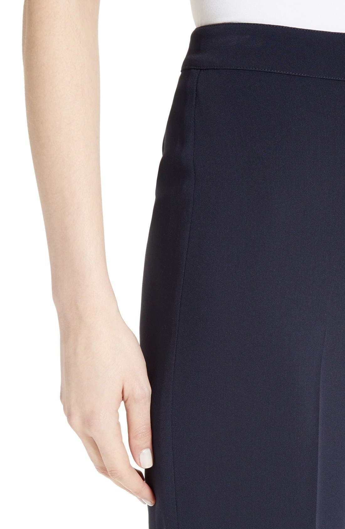 Diana Classic Cady Stretch Pants,                             Alternate thumbnail 9, color,                             NAVY