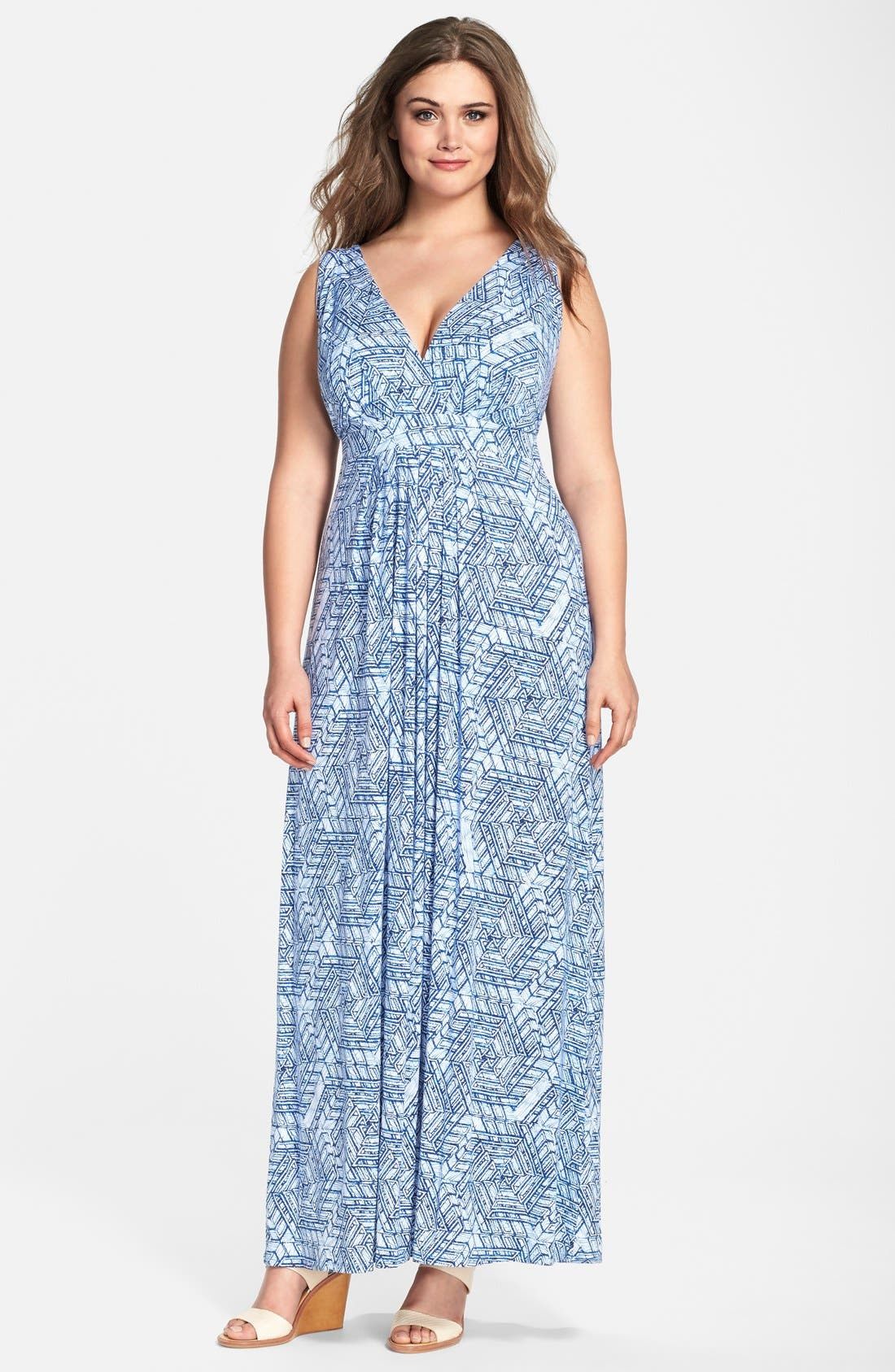 Chloe Empire Waist Maxi Dress,                             Main thumbnail 14, color,