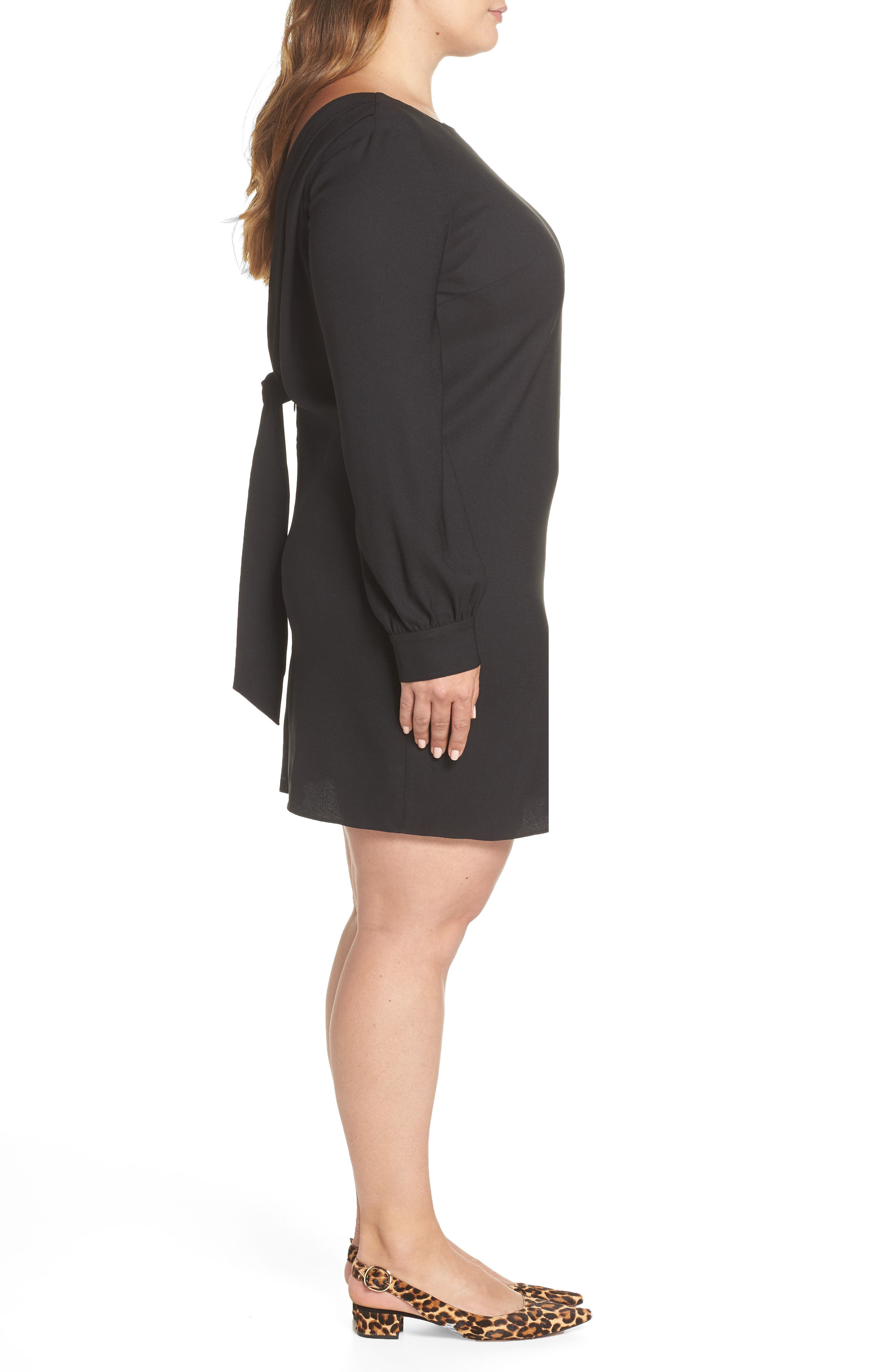 V-Back Shift Dress,                             Alternate thumbnail 10, color,                             001