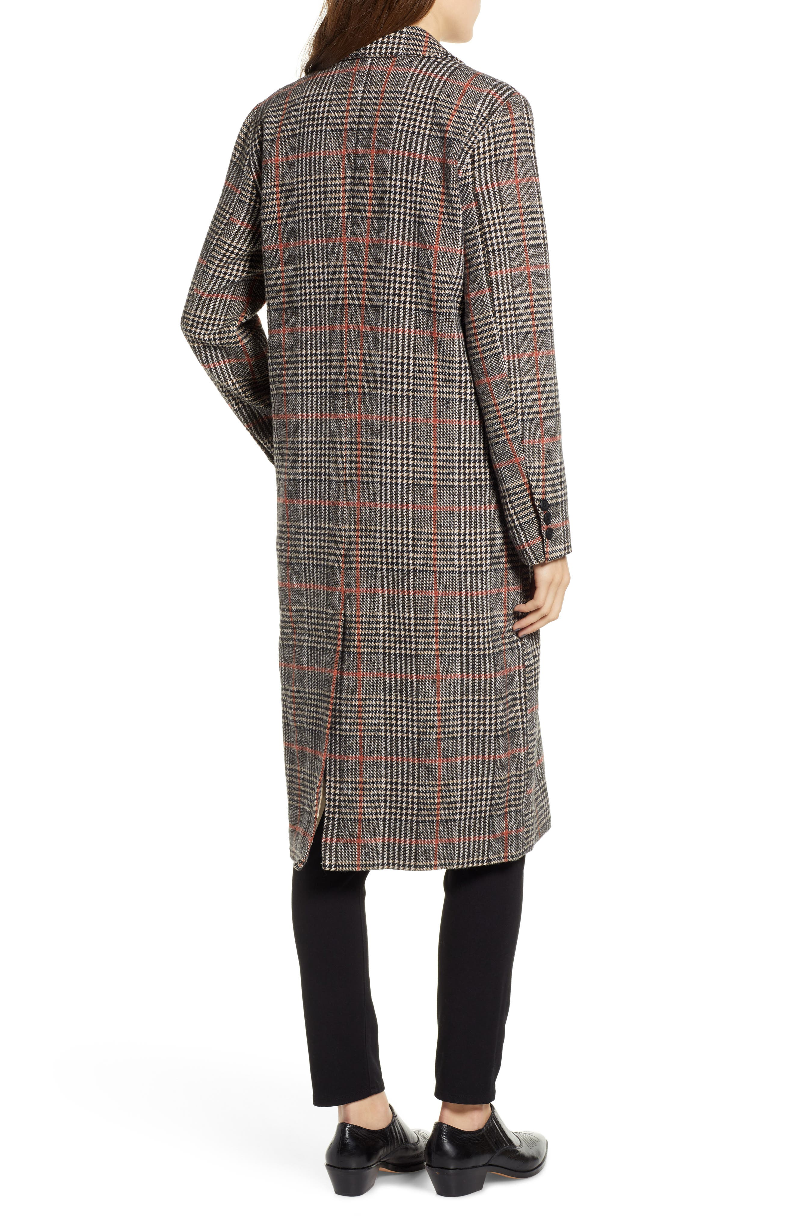 CUPCAKES AND CASHMERE,                             Plaid Duster Jacket,                             Alternate thumbnail 2, color,                             020