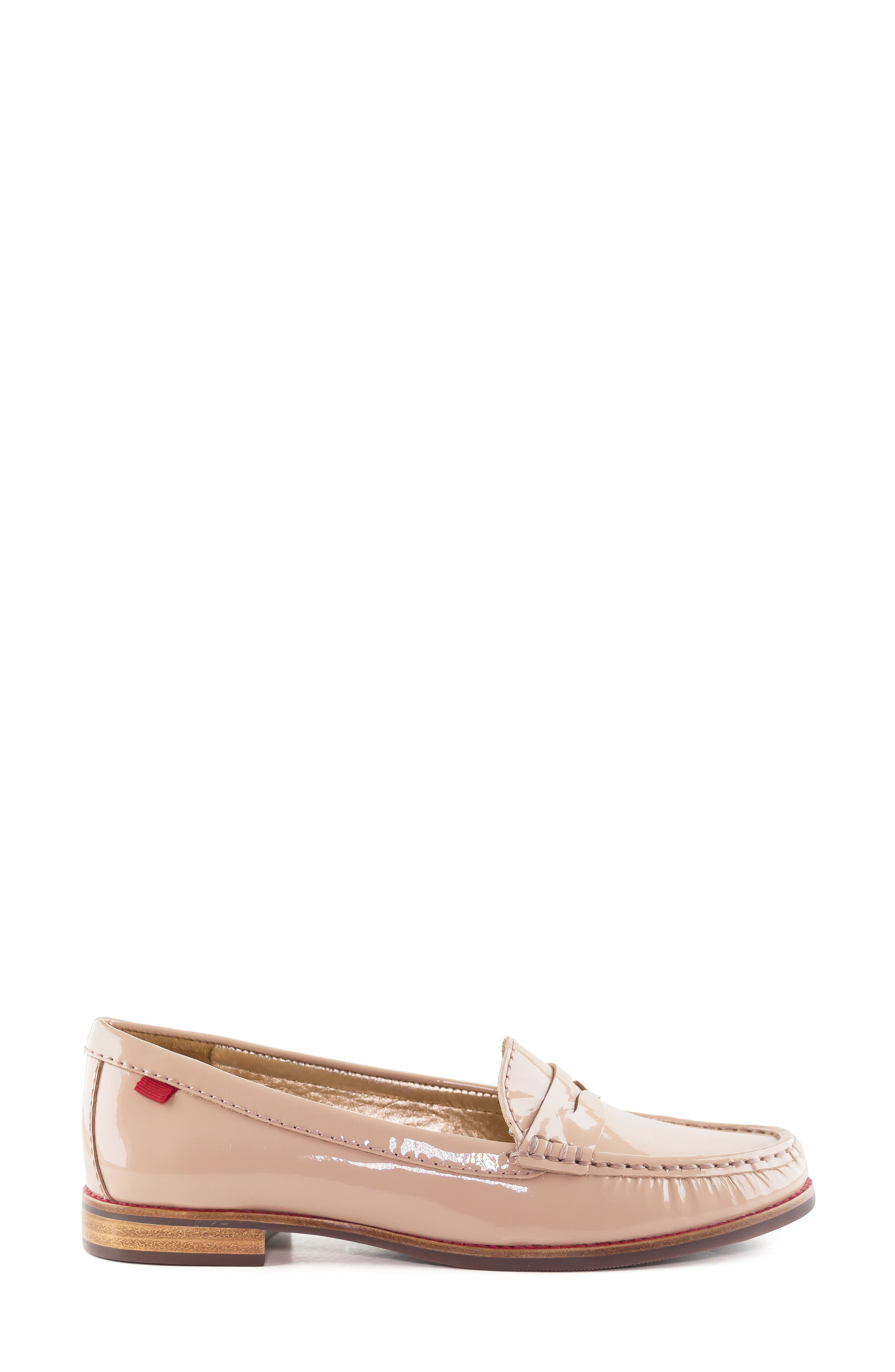 East Village Loafer,                             Alternate thumbnail 3, color,                             NUDE PATENT