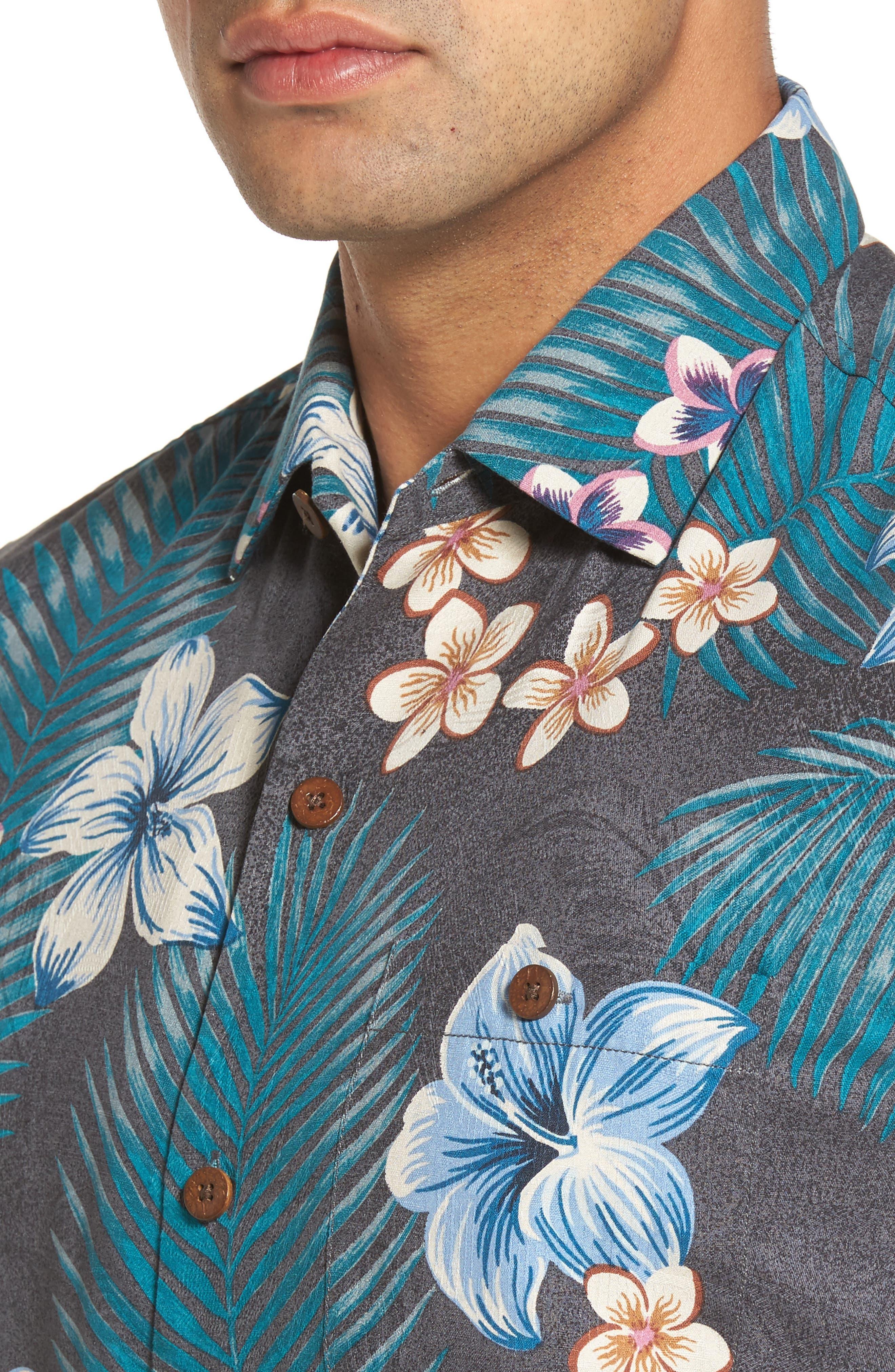 Marjorelle Blooms Silk Woven Shirt,                             Alternate thumbnail 4, color,                             001