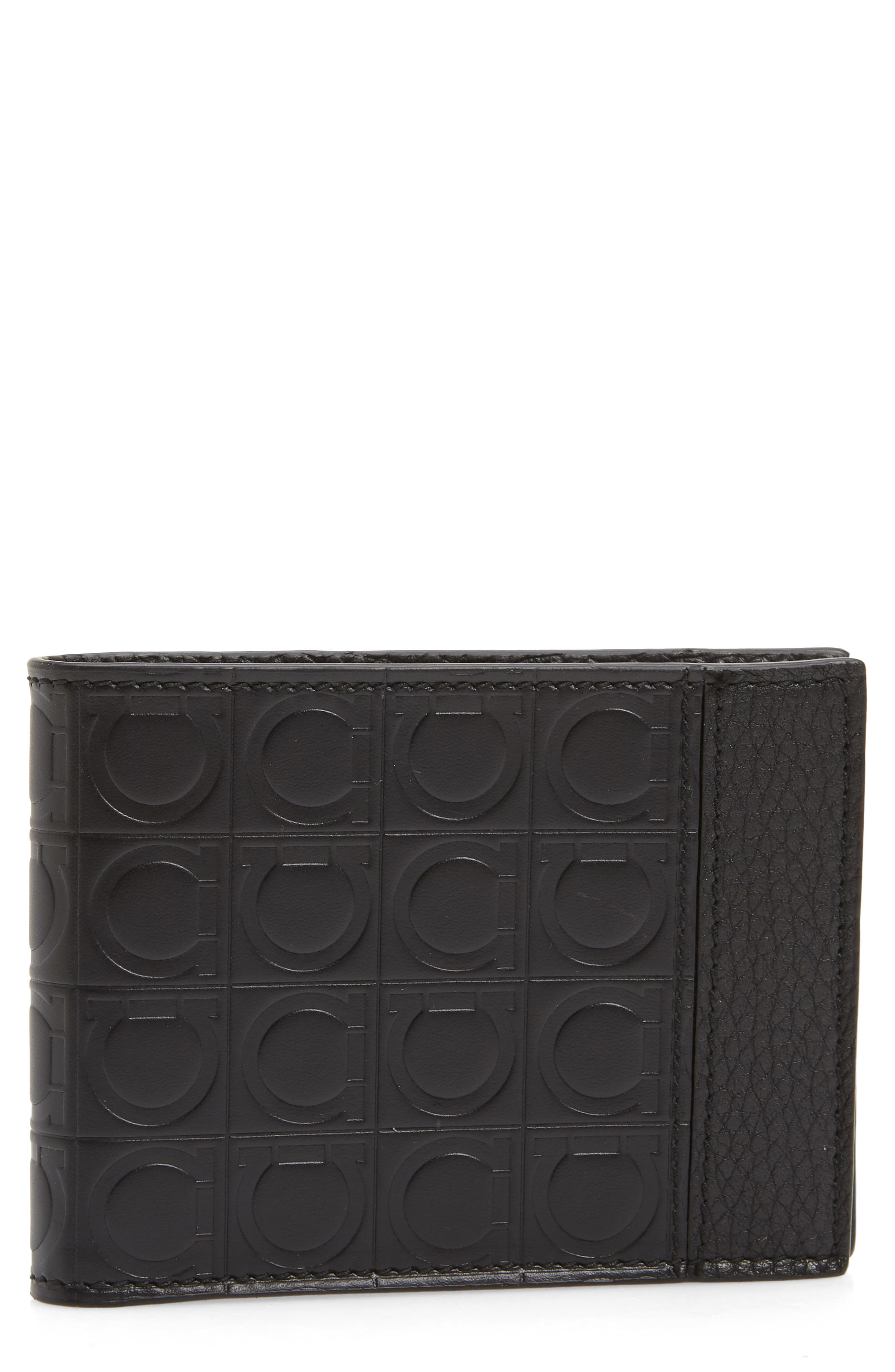 Firenze Gamma Leather Wallet,                             Main thumbnail 1, color,                             BLACK