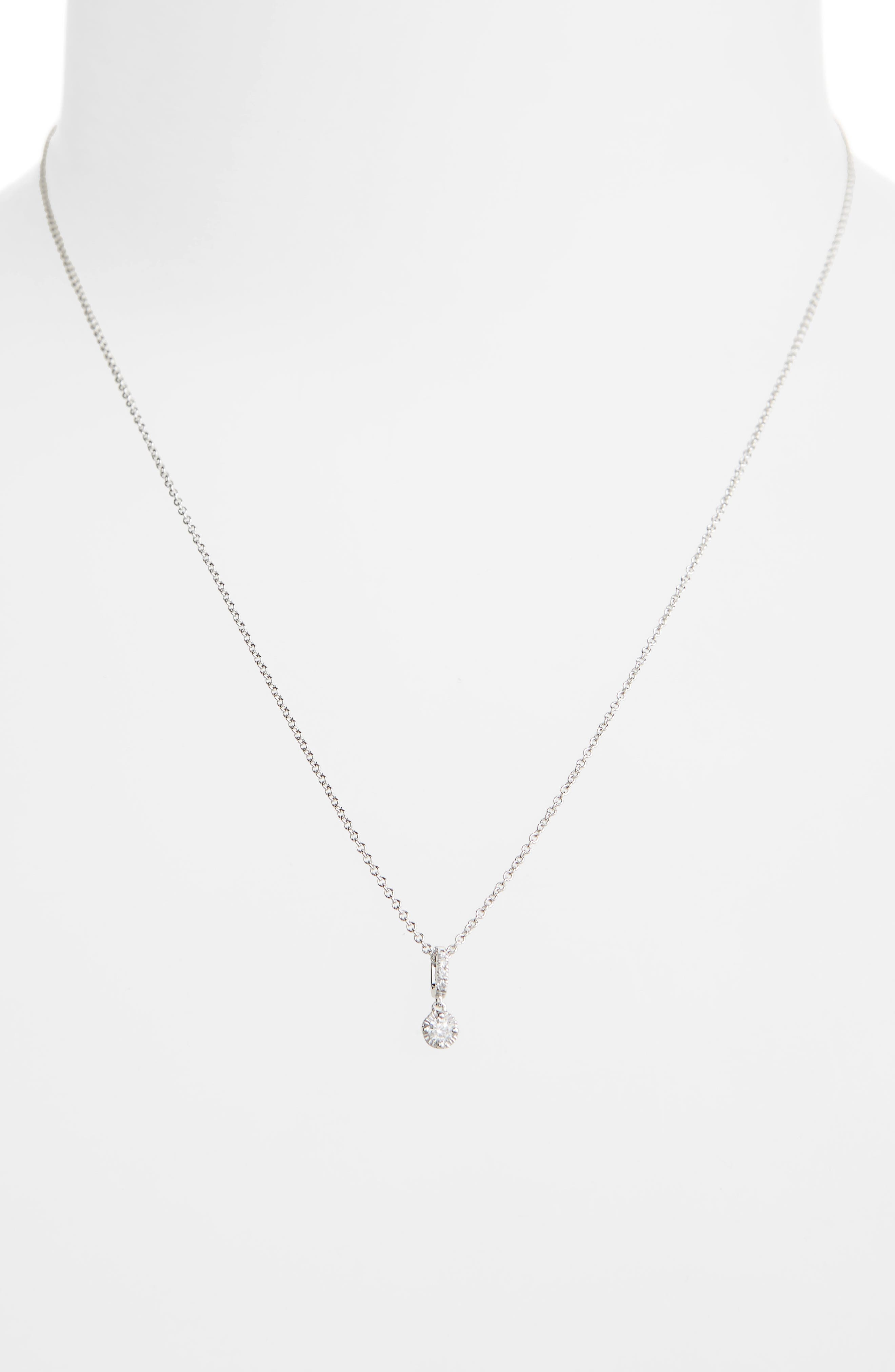 Mila Diamond Pendant Necklace,                             Alternate thumbnail 2, color,                             WHITE GOLD