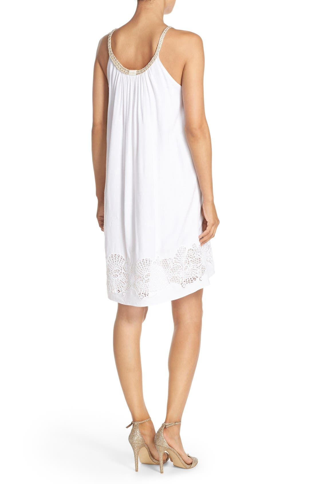 LILLY PULITZER<SUP>®</SUP>,                             'Sienna' Embroidered Swing Dress,                             Alternate thumbnail 4, color,                             115