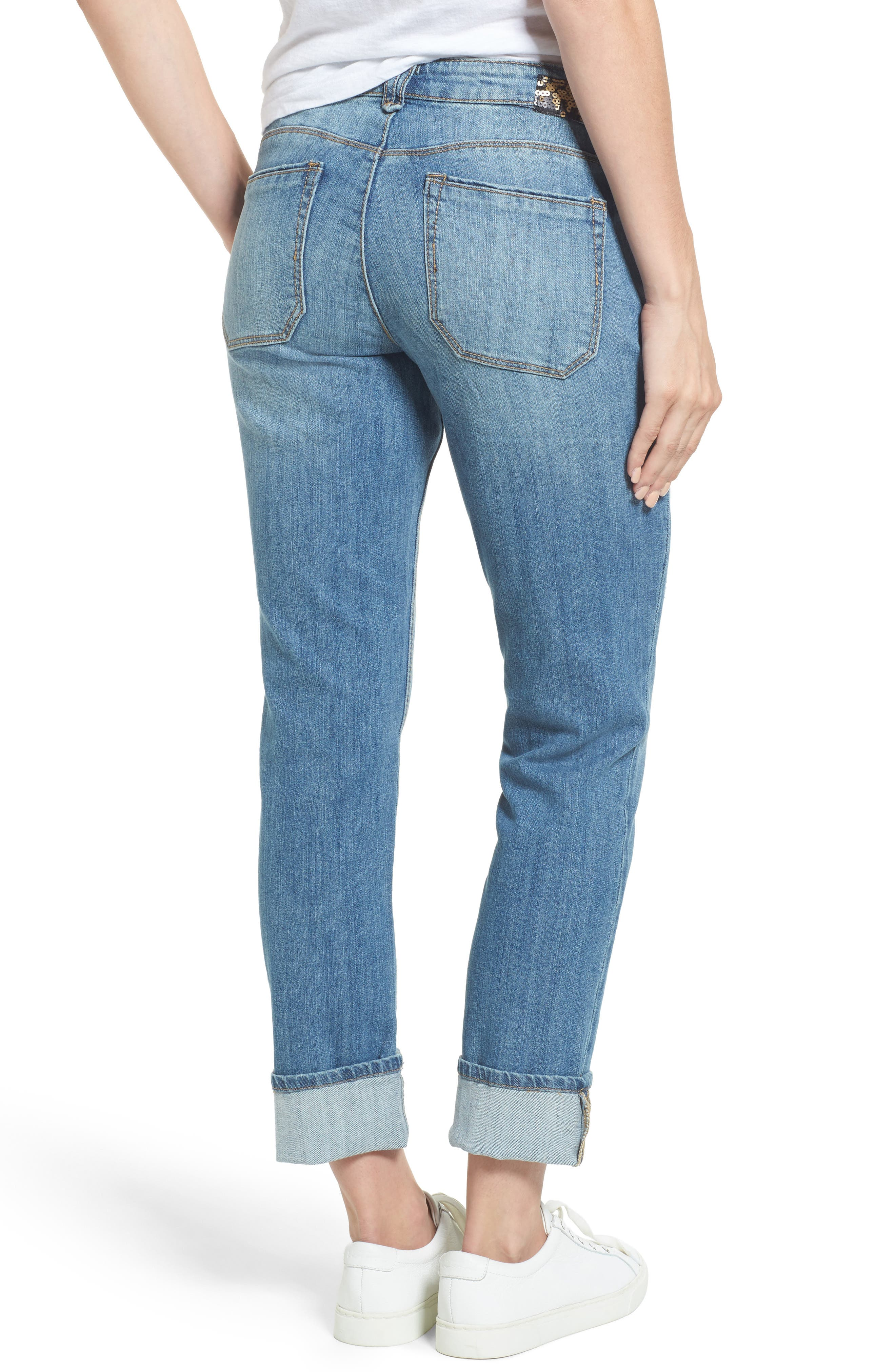 Flexellent Skinny Girlfriend Jeans,                             Alternate thumbnail 2, color,                             458