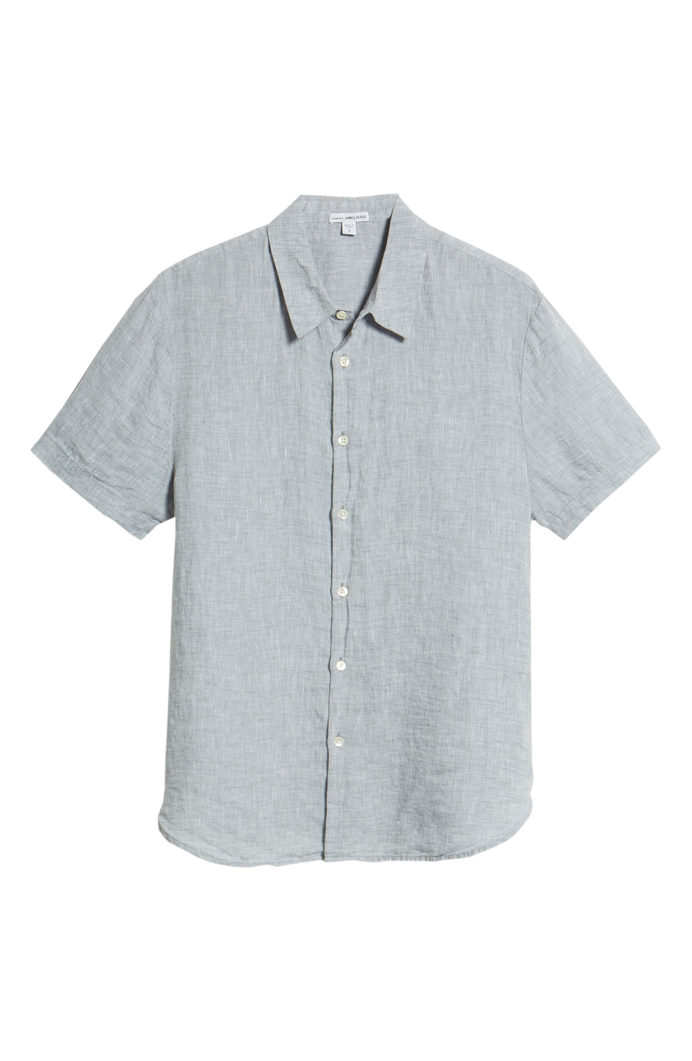 Slim Fit Linen Sport Shirt,                             Alternate thumbnail 16, color,