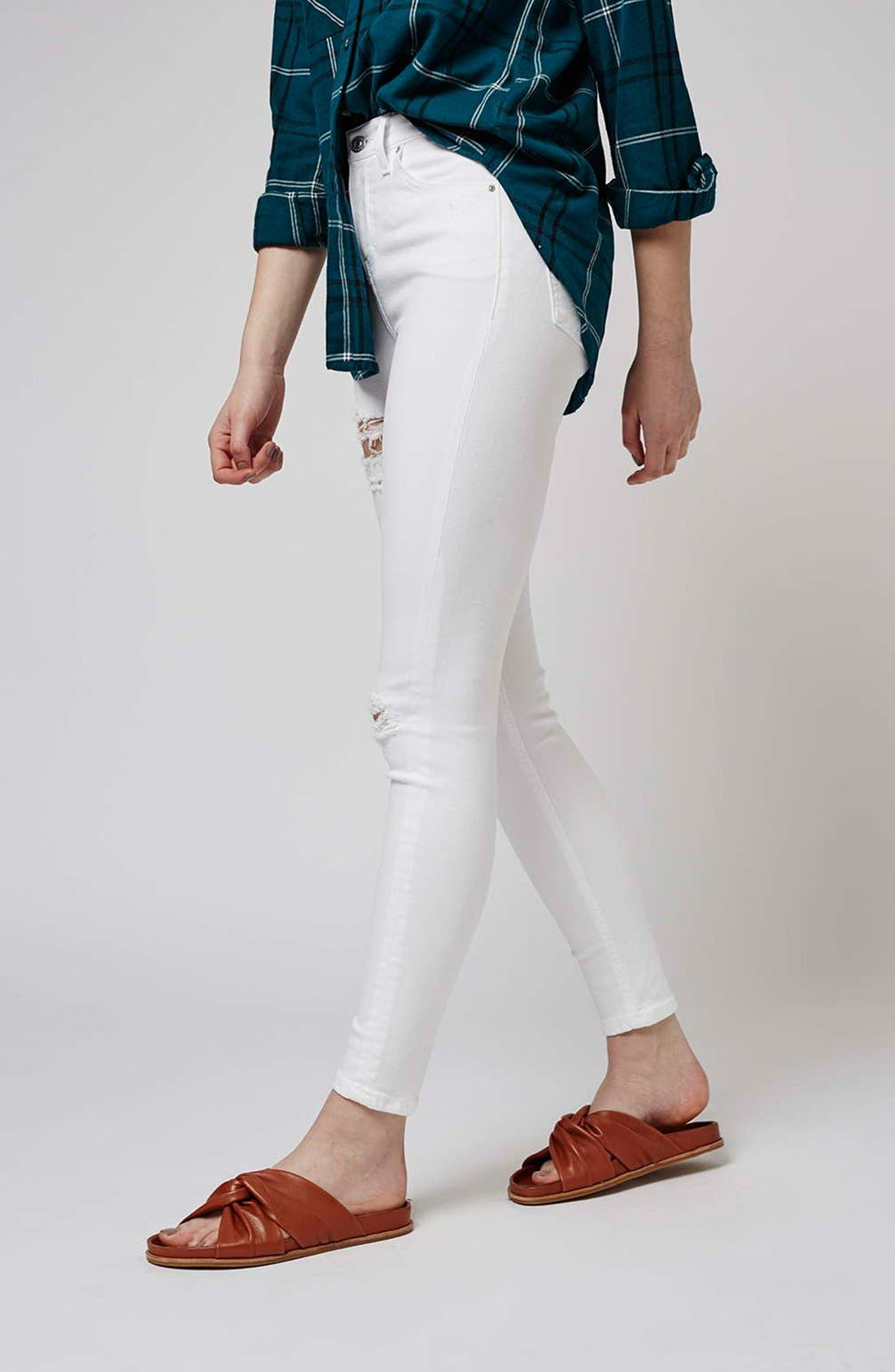 'Jamie - Super Ripped' High Waist Skinny Jeans,                             Alternate thumbnail 6, color,