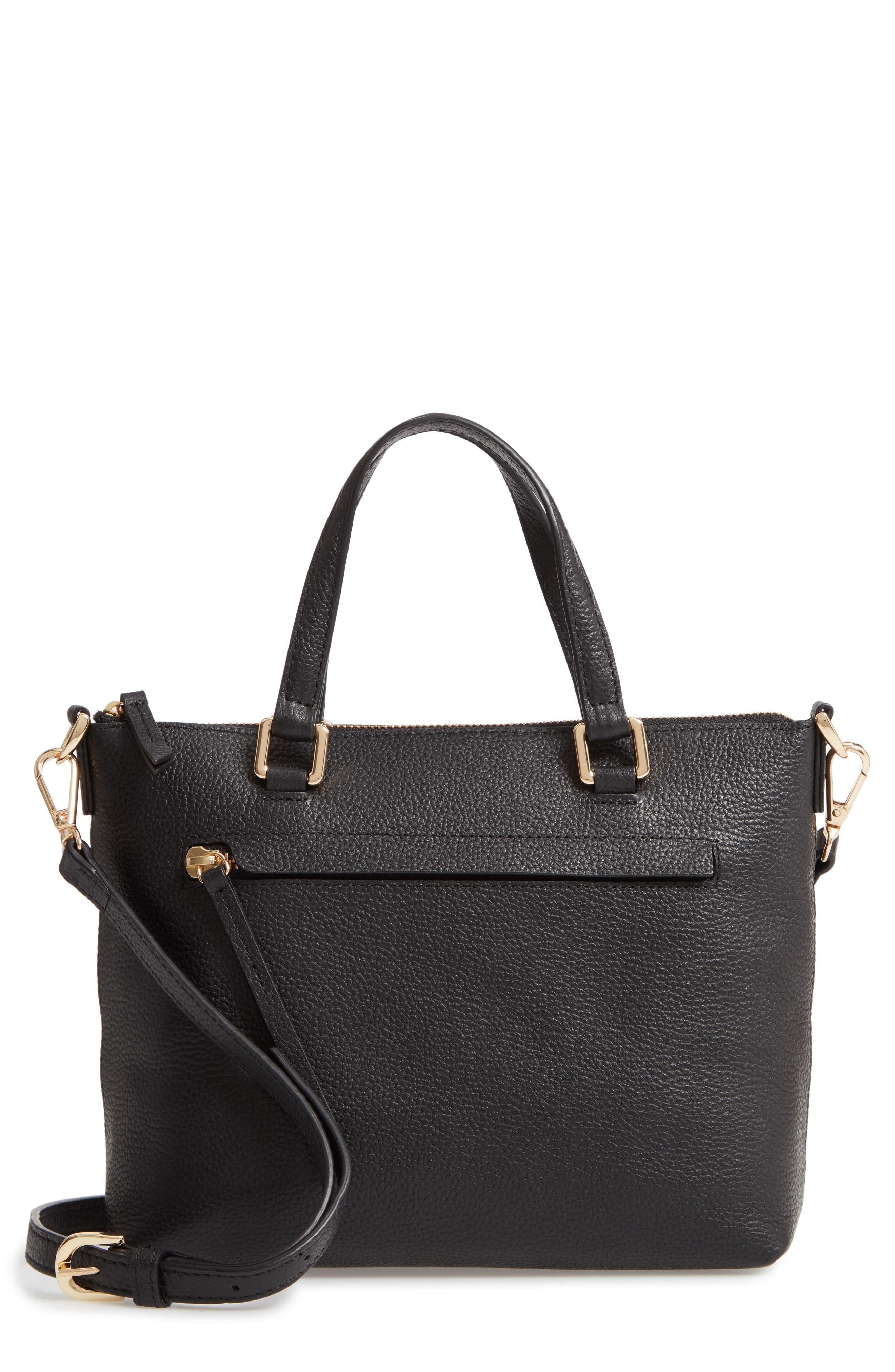 Lexa Leather Crossbody Bag,                             Main thumbnail 1, color,                             BLACK
