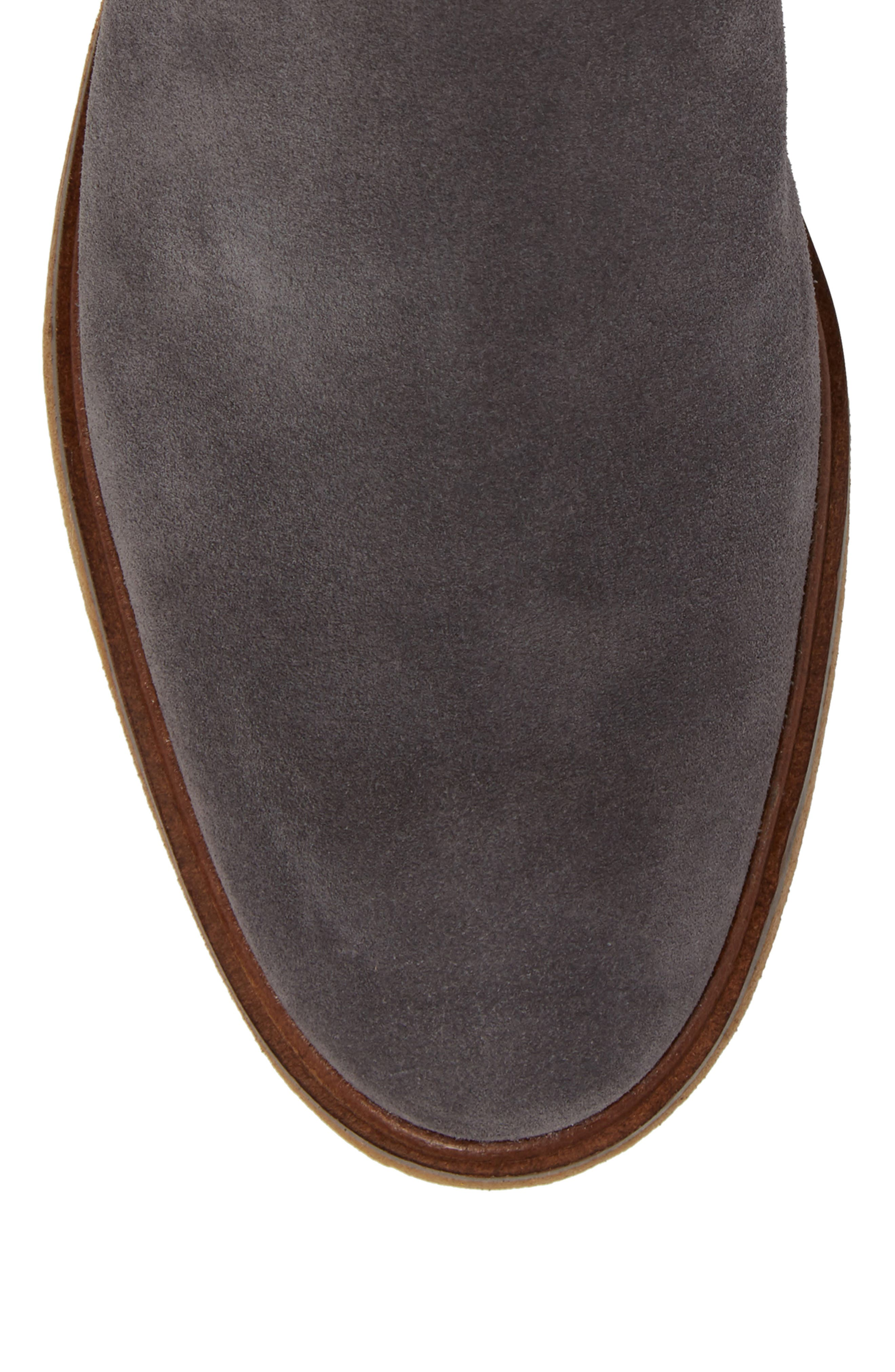 Clarkdale Chelsea Boot,                             Alternate thumbnail 5, color,                             GREY SUEDE