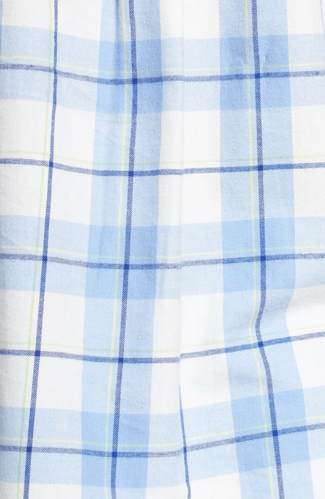 'Raven' Plaid Cotton Pajamas,                             Alternate thumbnail 4, color,                             410