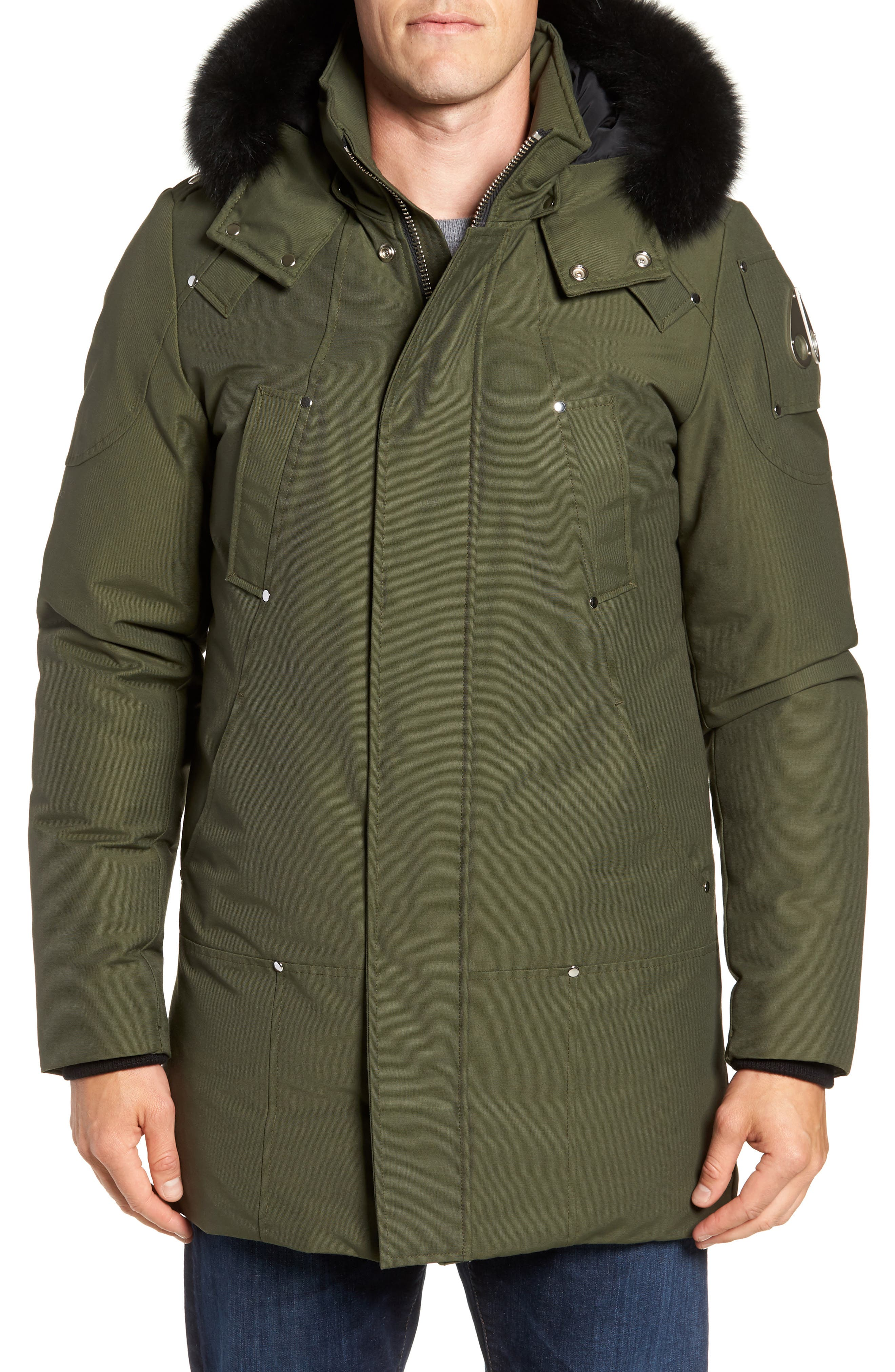Stirling Water Repellent Down Parka with Genuine Fox Fur Trim,                             Alternate thumbnail 16, color,
