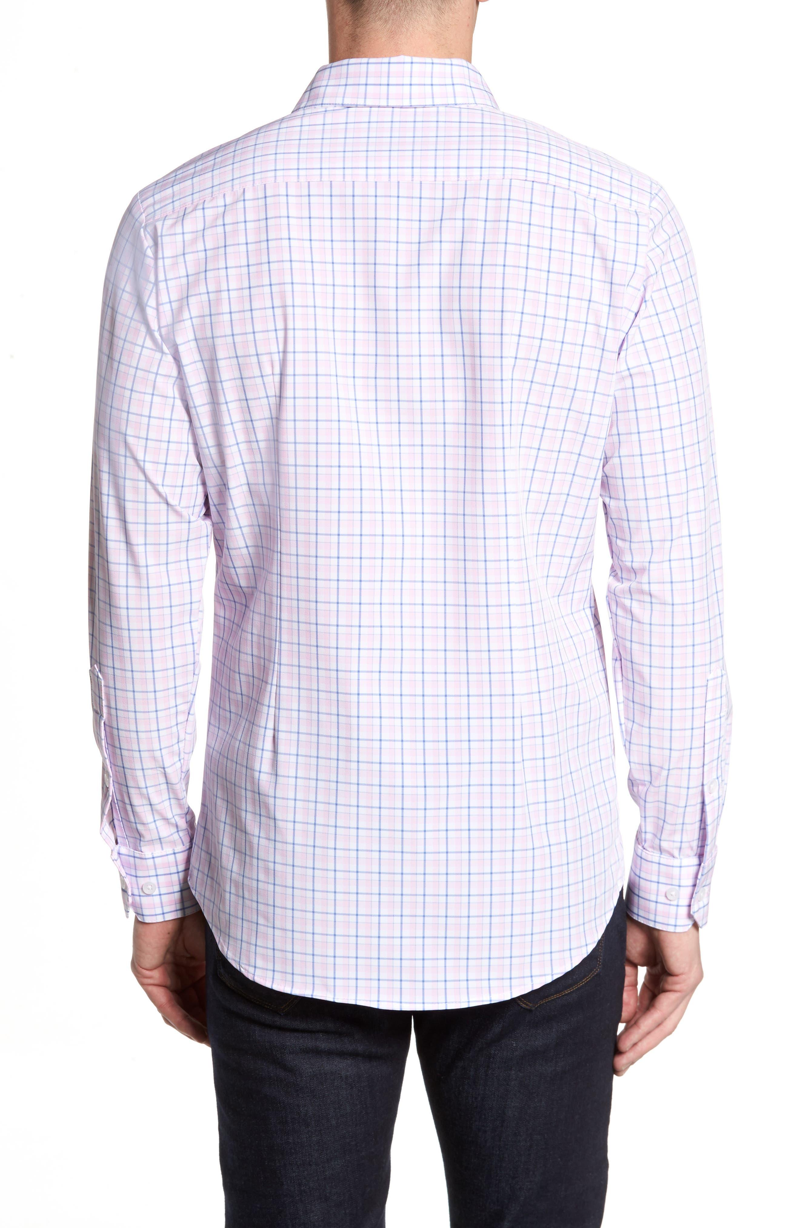 Wailea Plaid Sport Shirt,                             Alternate thumbnail 2, color,                             PINK