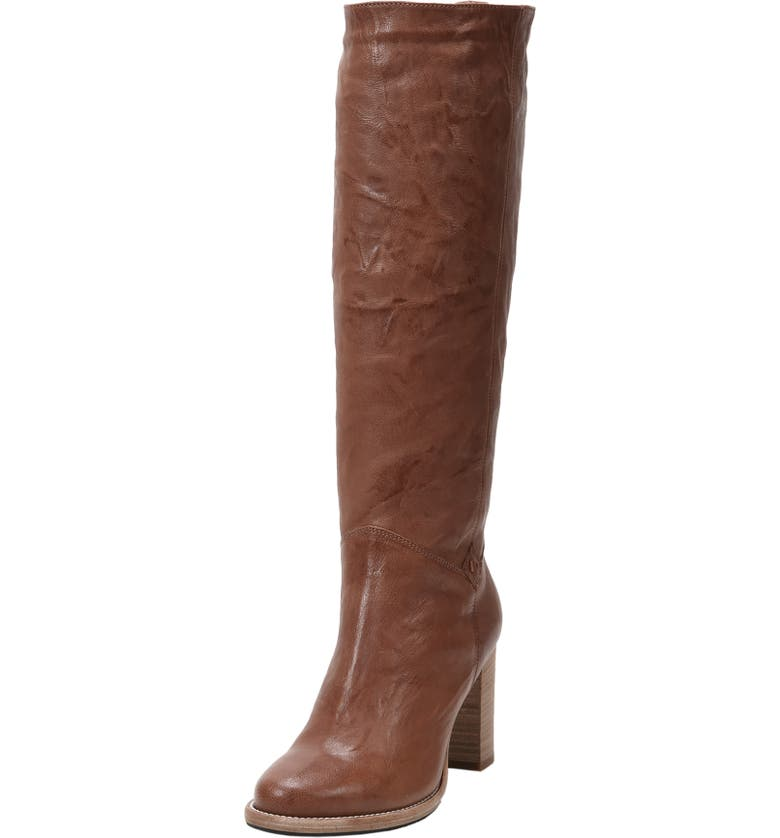 Michela SP Waterproof Genuine Shearling Lined Boot, Main, color, COGNAC LEATHER