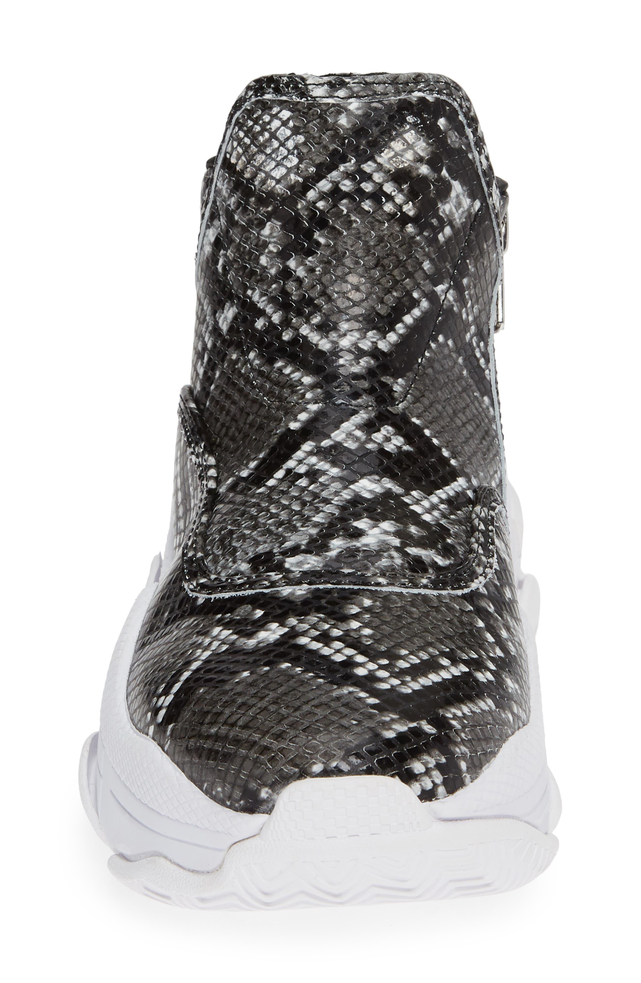 CTRL-DEL Sneaker,                             Alternate thumbnail 4, color,                             GREY BLACK SNAKE