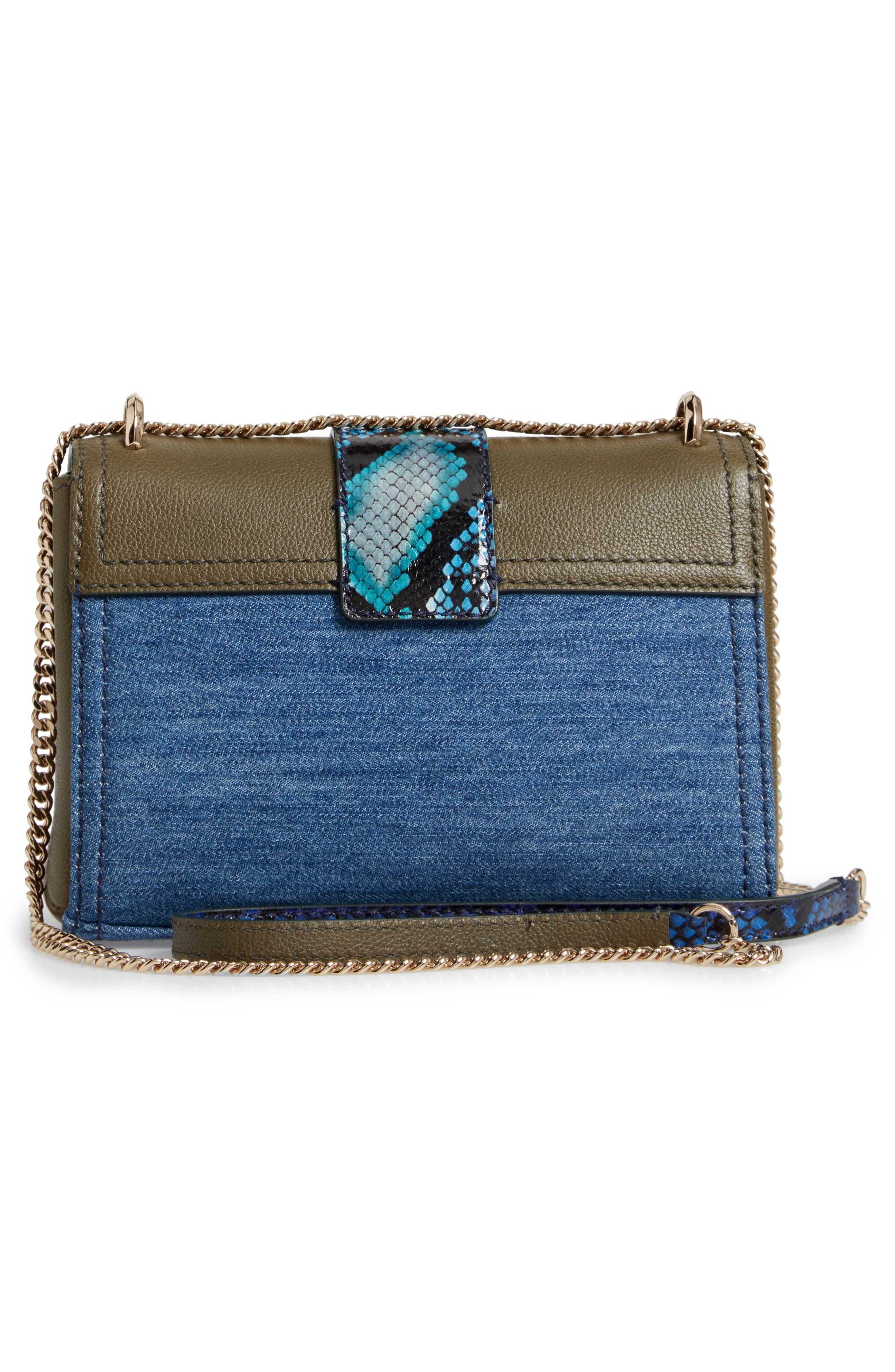 Marianne Leather & Genuine Snakeskin Crossbody Bag,                             Alternate thumbnail 4, color,                             NAVY MIX