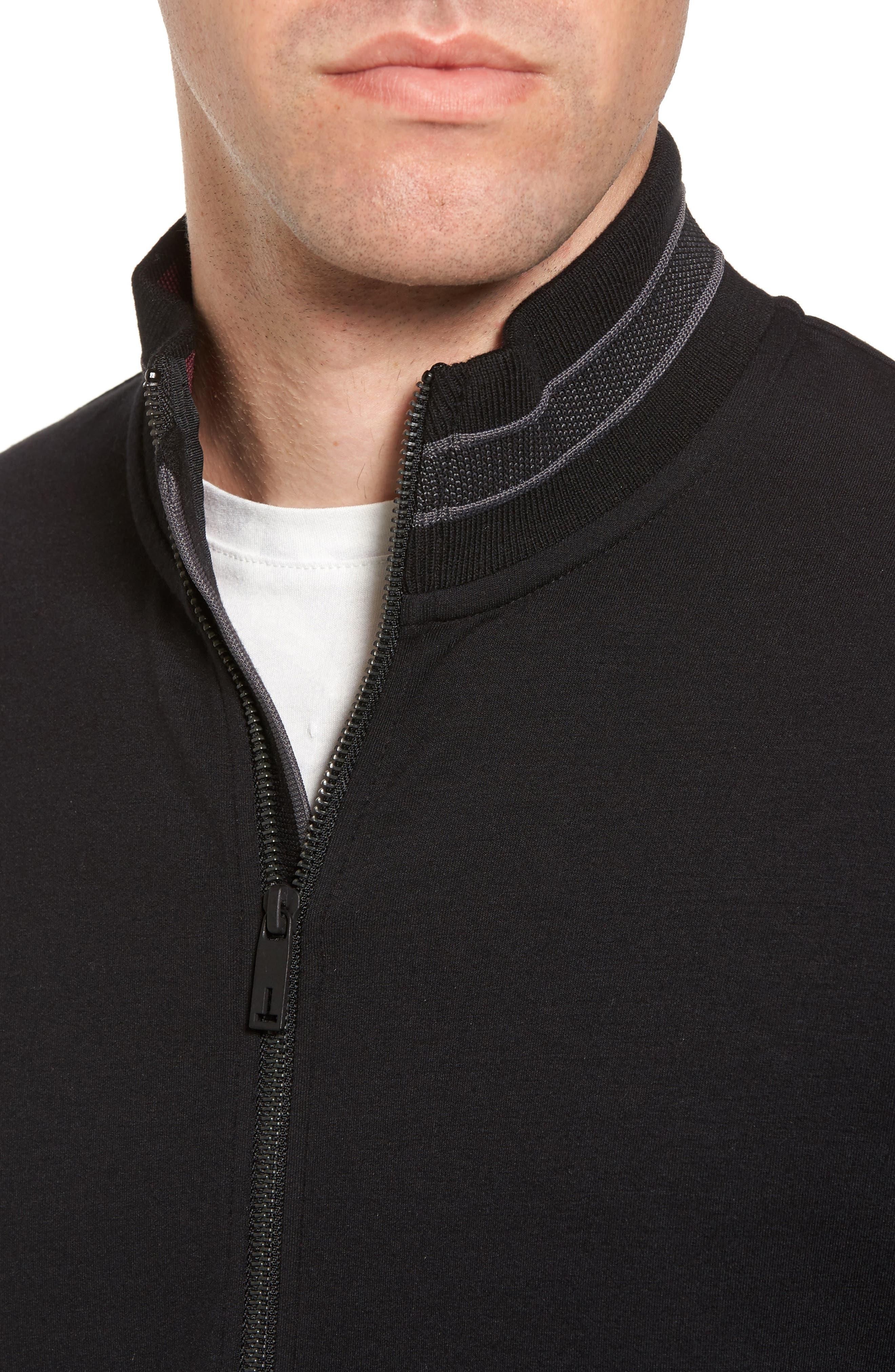 Collie Jersey Zip Jacket,                             Alternate thumbnail 4, color,                             001