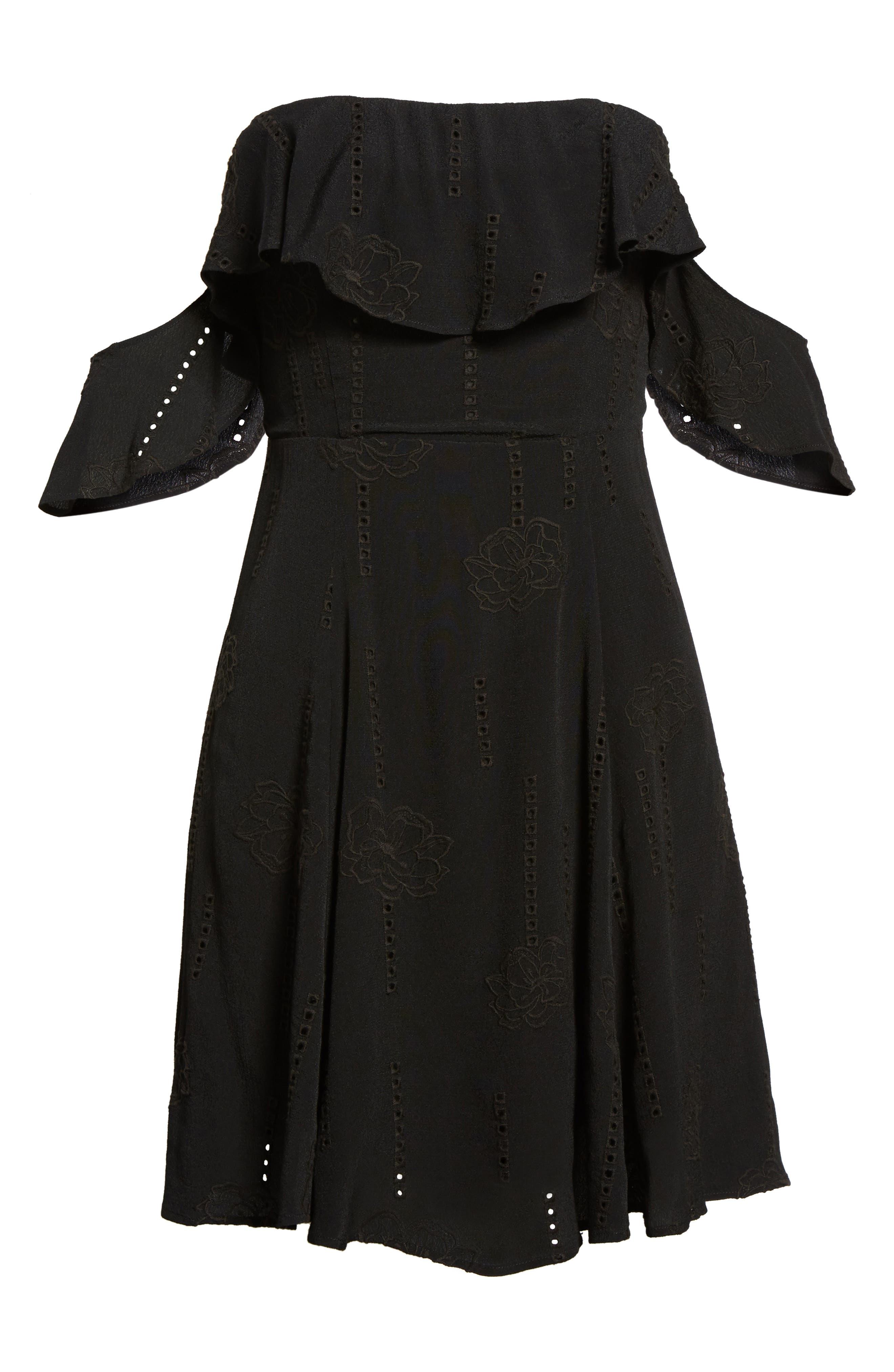 Sabina A-Line Dress,                             Alternate thumbnail 6, color,                             001