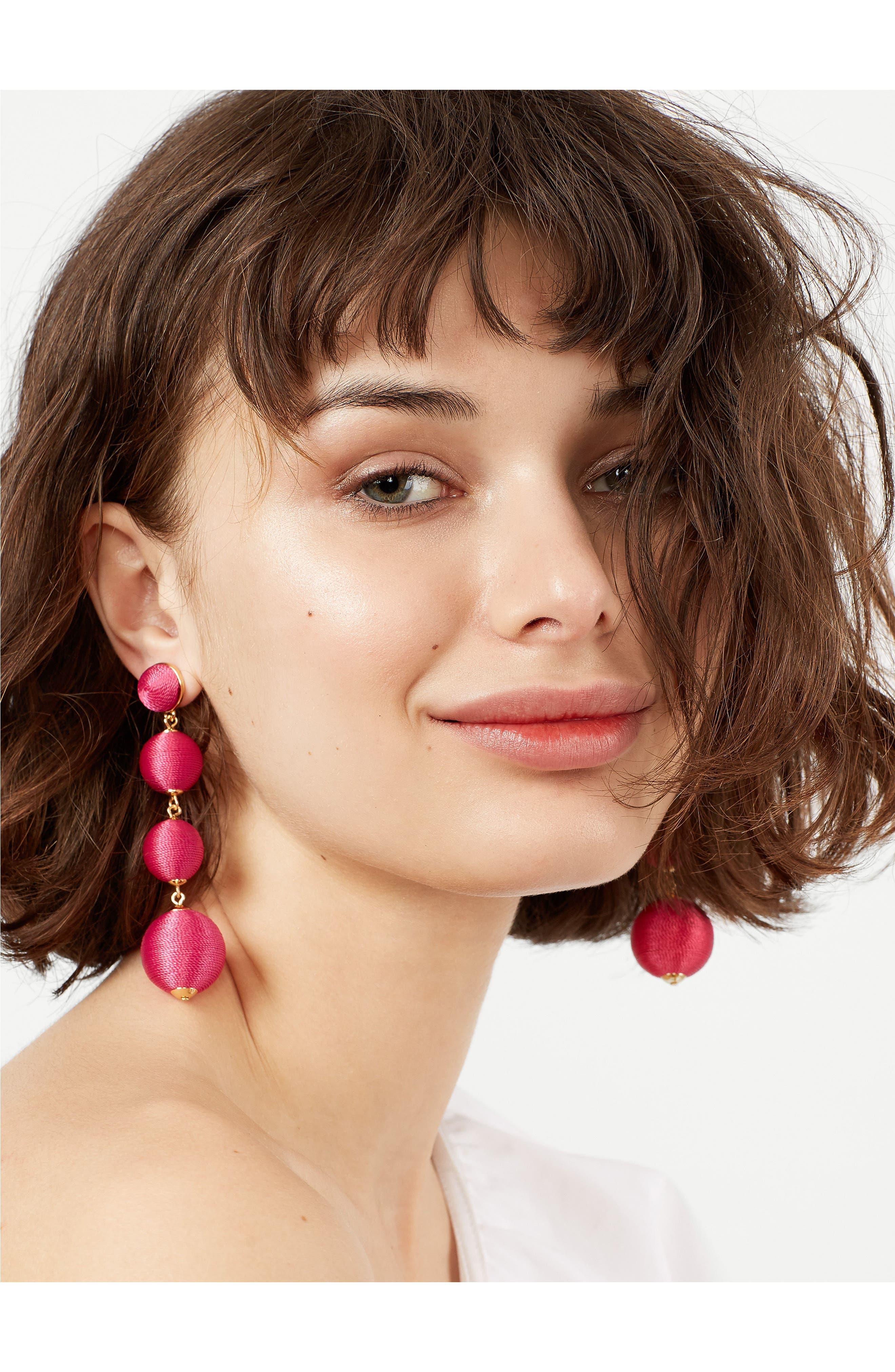 Criselda Ball Shoulder Duster Earrings,                             Alternate thumbnail 16, color,