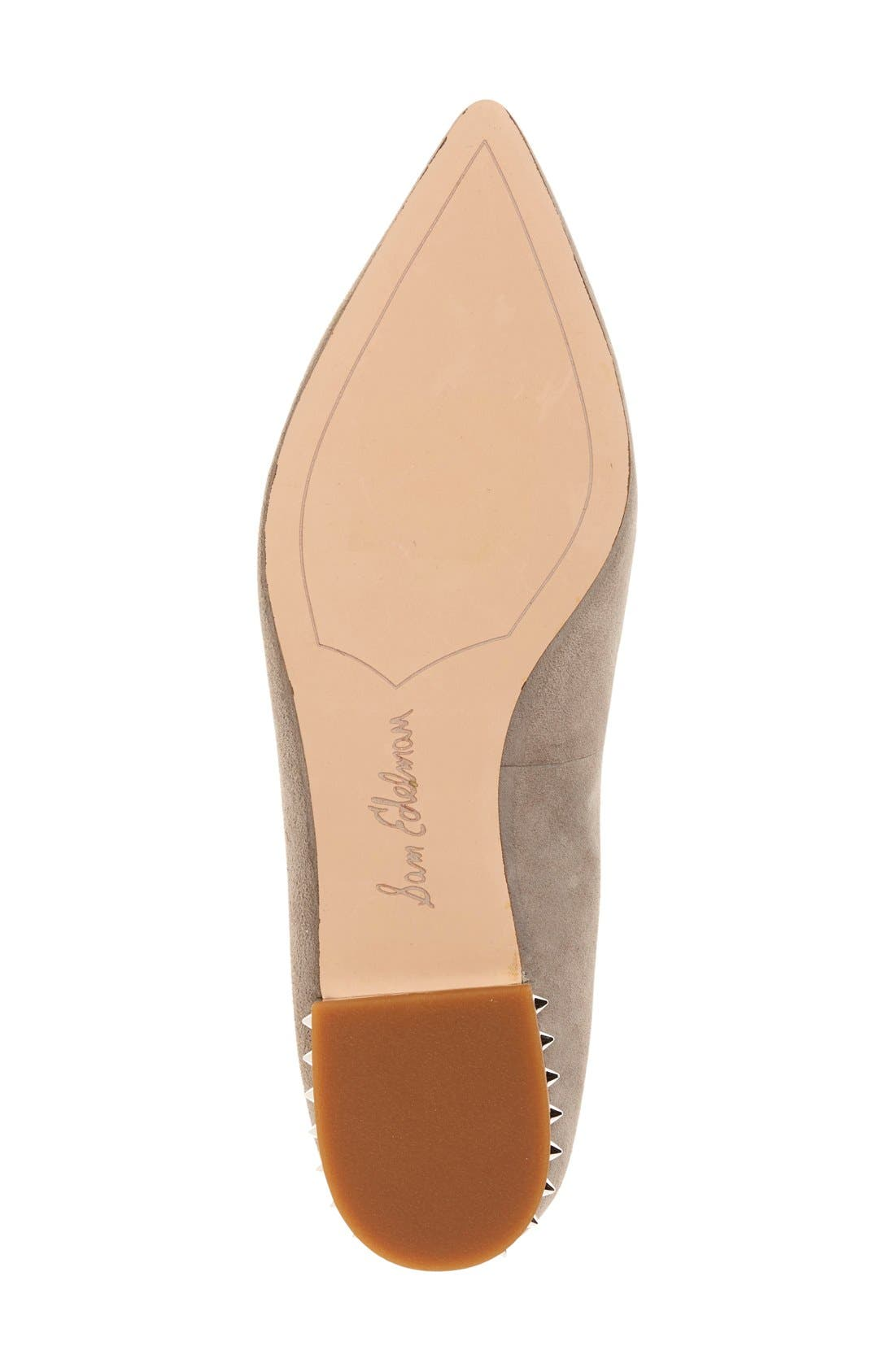 'Reyanne' Spike Rand Pointy Toe Flat,                             Alternate thumbnail 31, color,