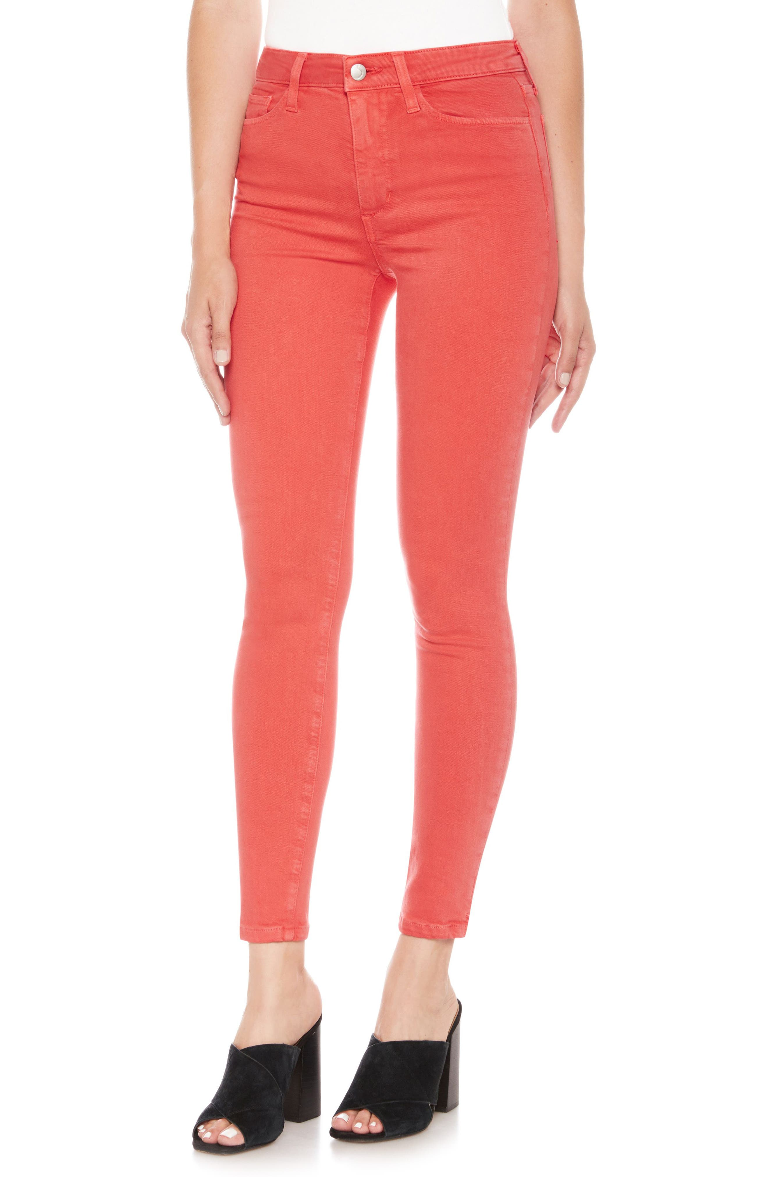 Charlie High Waist Ankle Skinny Jeans,                             Main thumbnail 6, color,