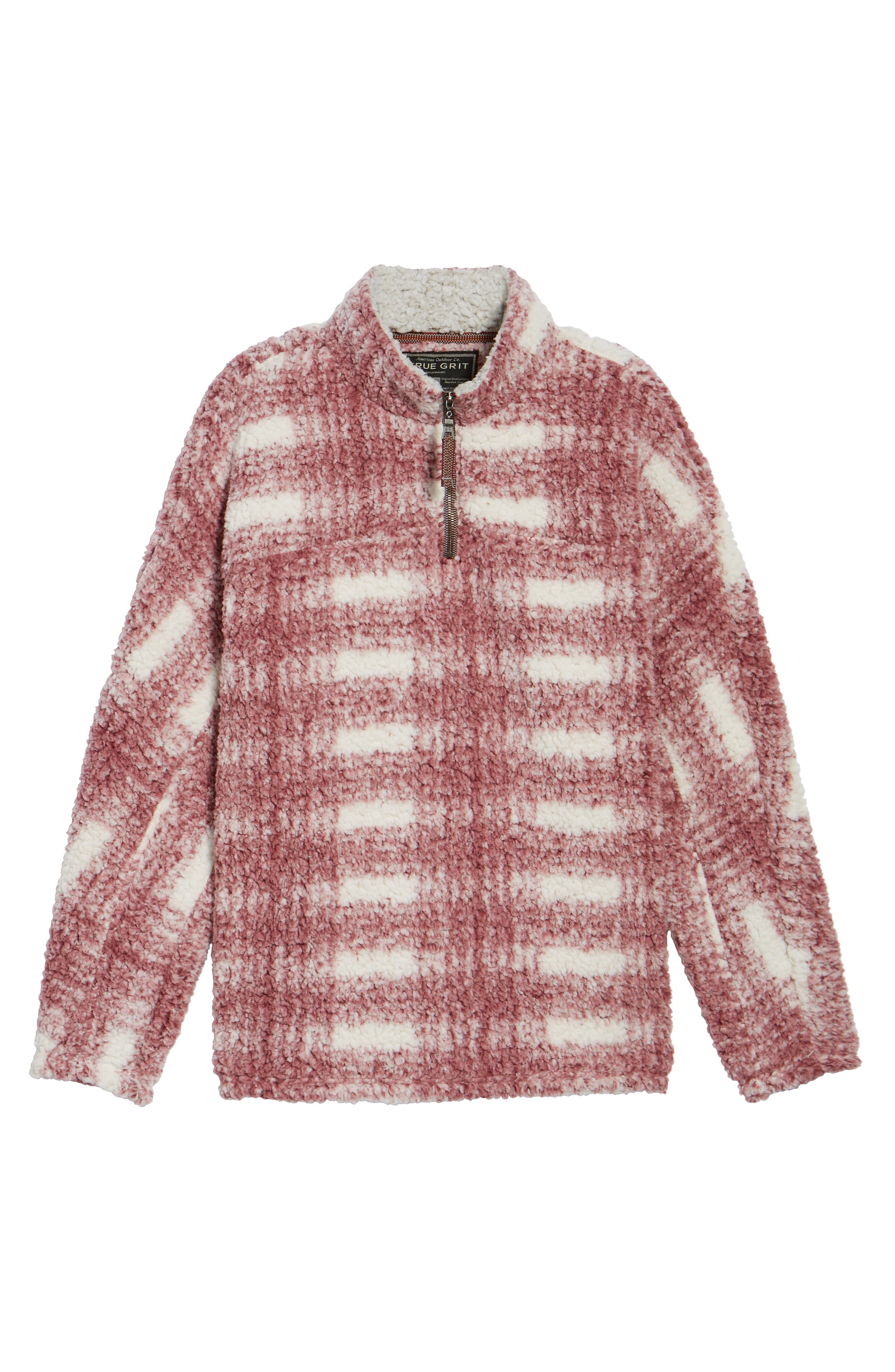 Big Plaid Frosty Tipped Faux Fur Pullover,                             Alternate thumbnail 12, color,