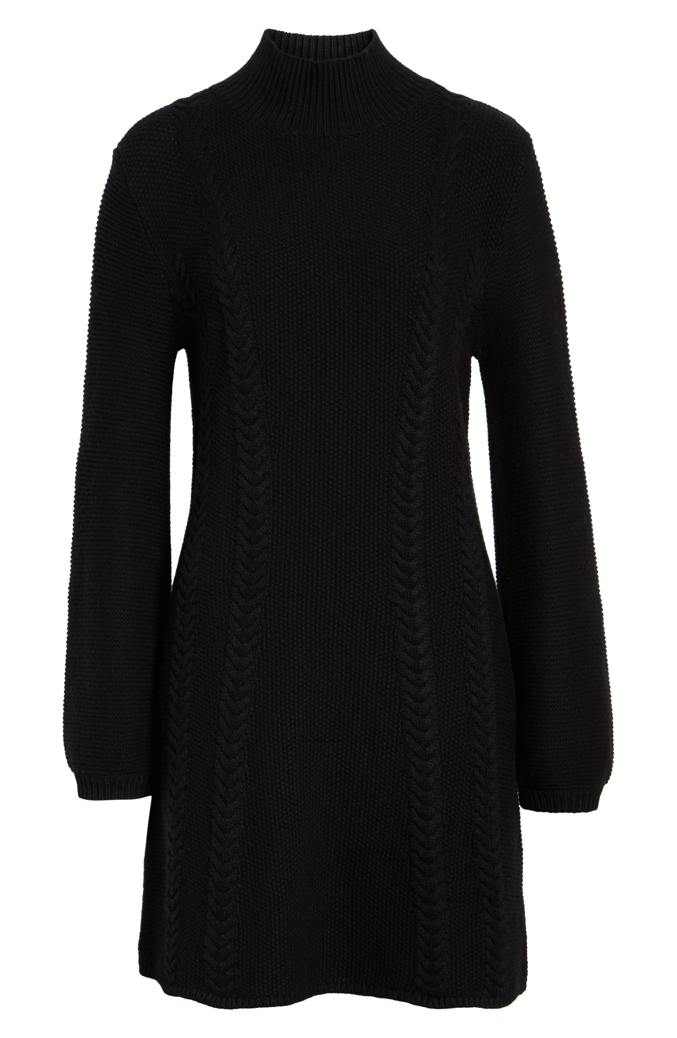 Cable Knit Sweater Dress,                             Alternate thumbnail 11, color,