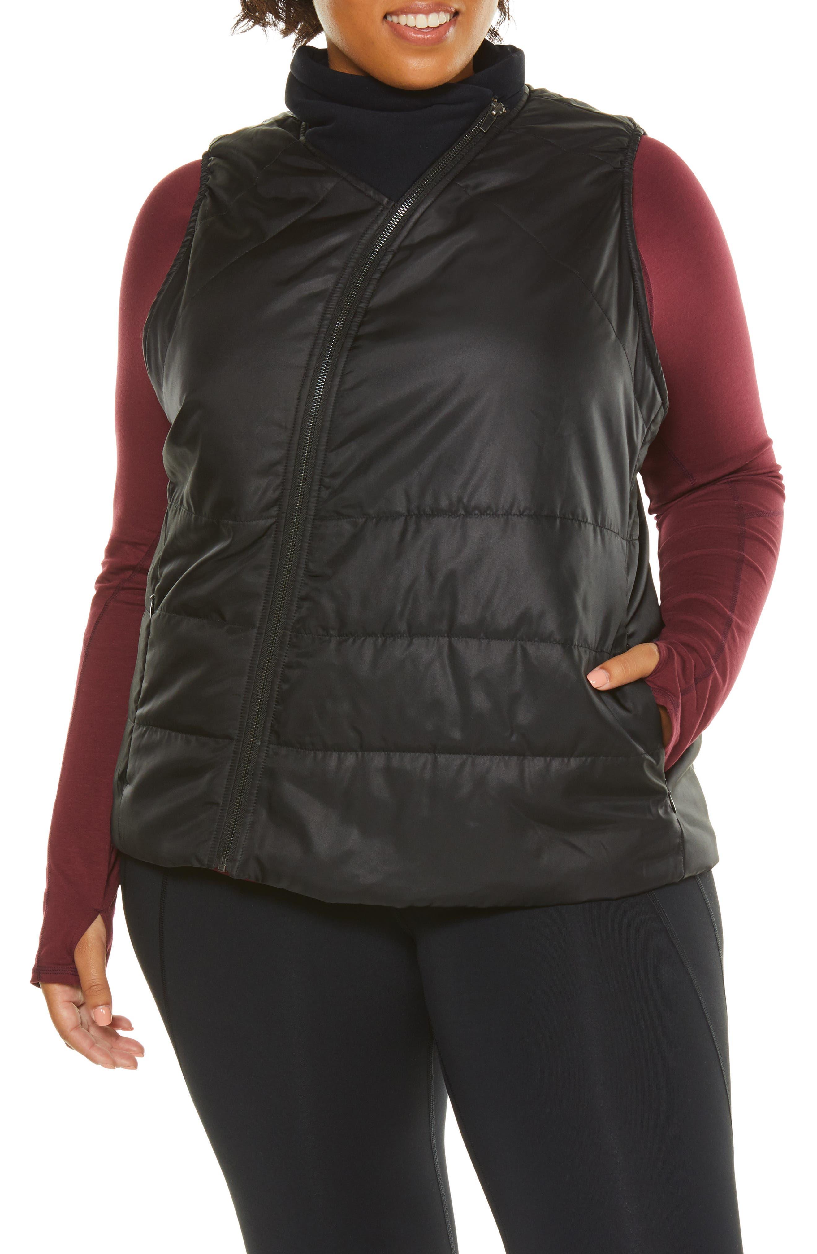 Glamour Puffer Vest,                             Alternate thumbnail 4, color,                             BLACK