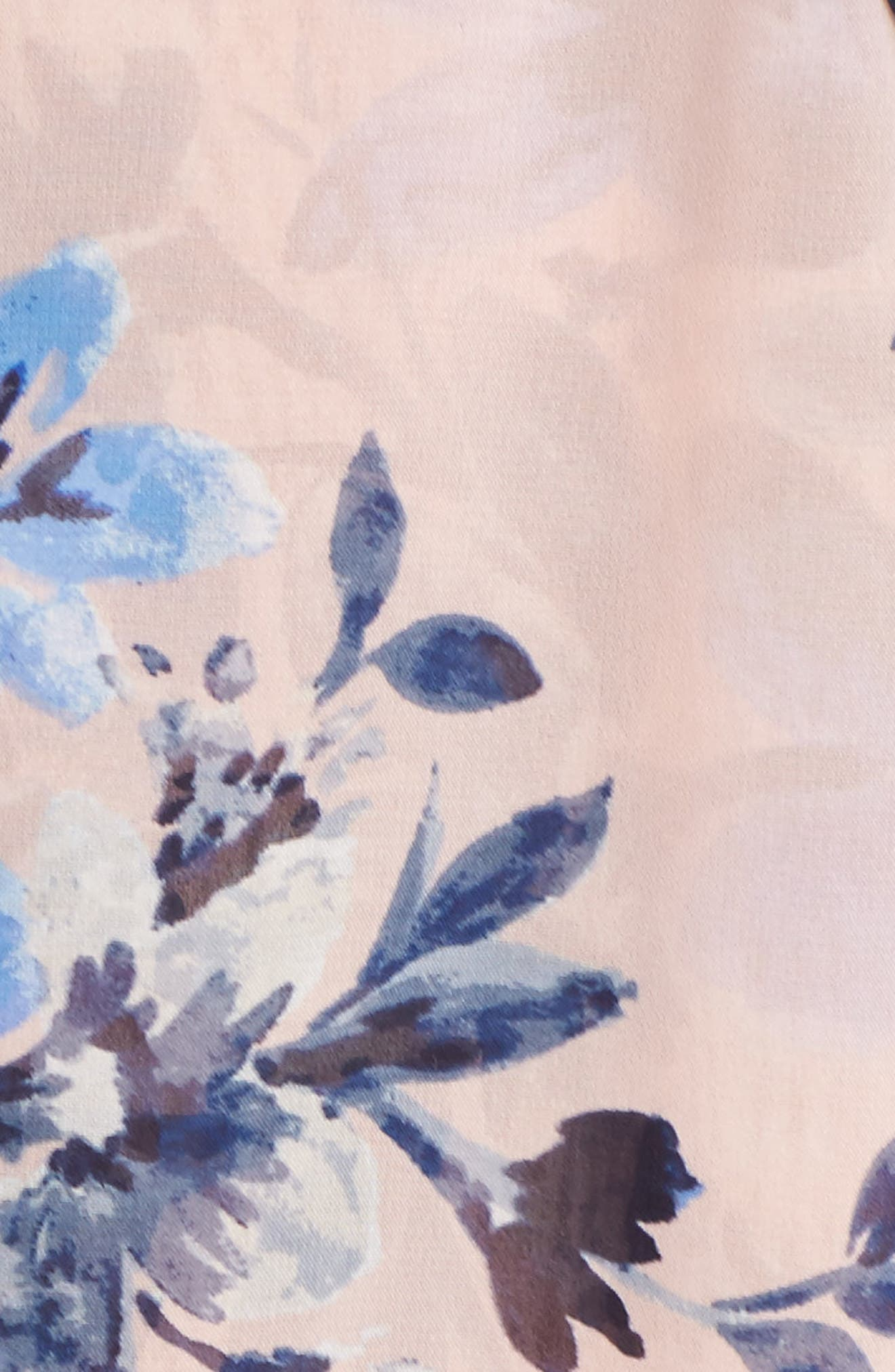 Floral Chiffon High/Low Dress,                             Alternate thumbnail 5, color,